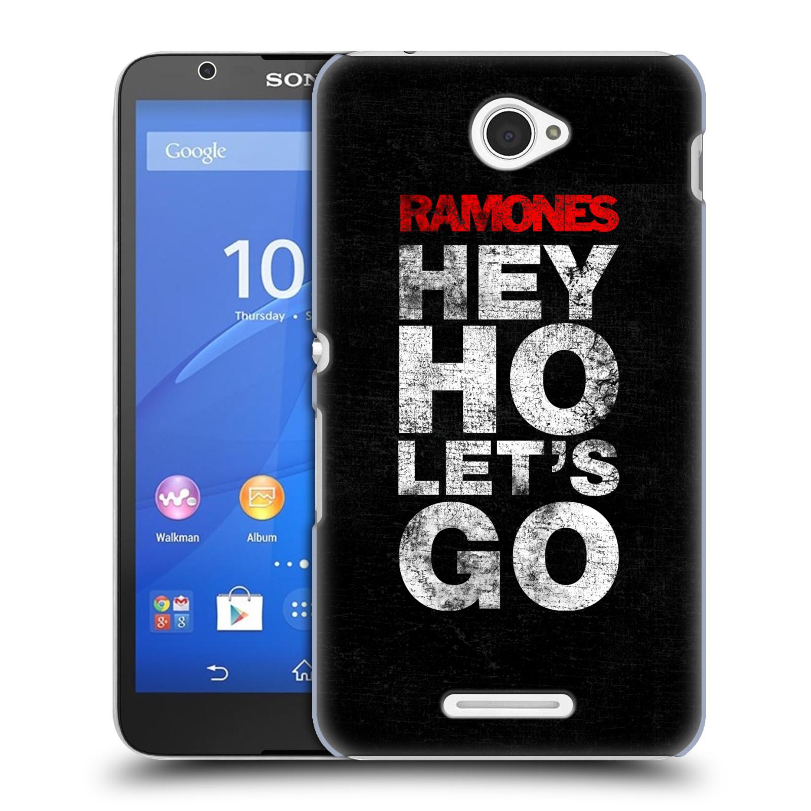 Plastové pouzdro na mobil Sony Xperia E4 E2105 HEAD CASE The Ramones - HEY HO LET´S GO (Plastový kryt či obal na mobilní telefon s oficiálním licencovaným motivem The Ramones pro Sony Xperia E4 a E4 Dual SIM)