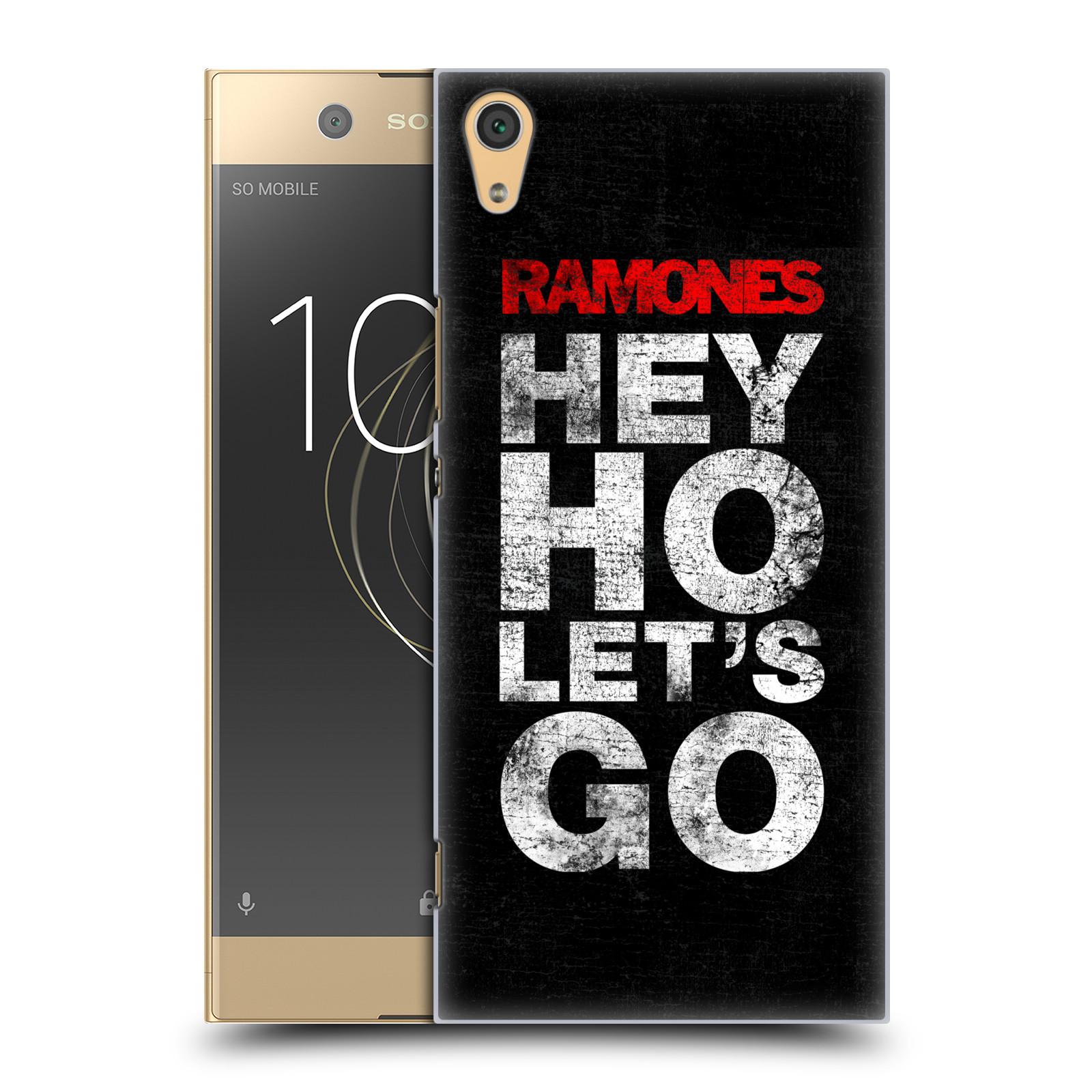 Plastové pouzdro na mobil Sony Xperia XA1 Ultra - Head Case - The Ramones - HEY HO LET´S GO (Plastový kryt či obal na mobilní telefon Sony Xperia XA1 Ultra G3221 s motivem The Ramones - HEY HO LET´S GO)