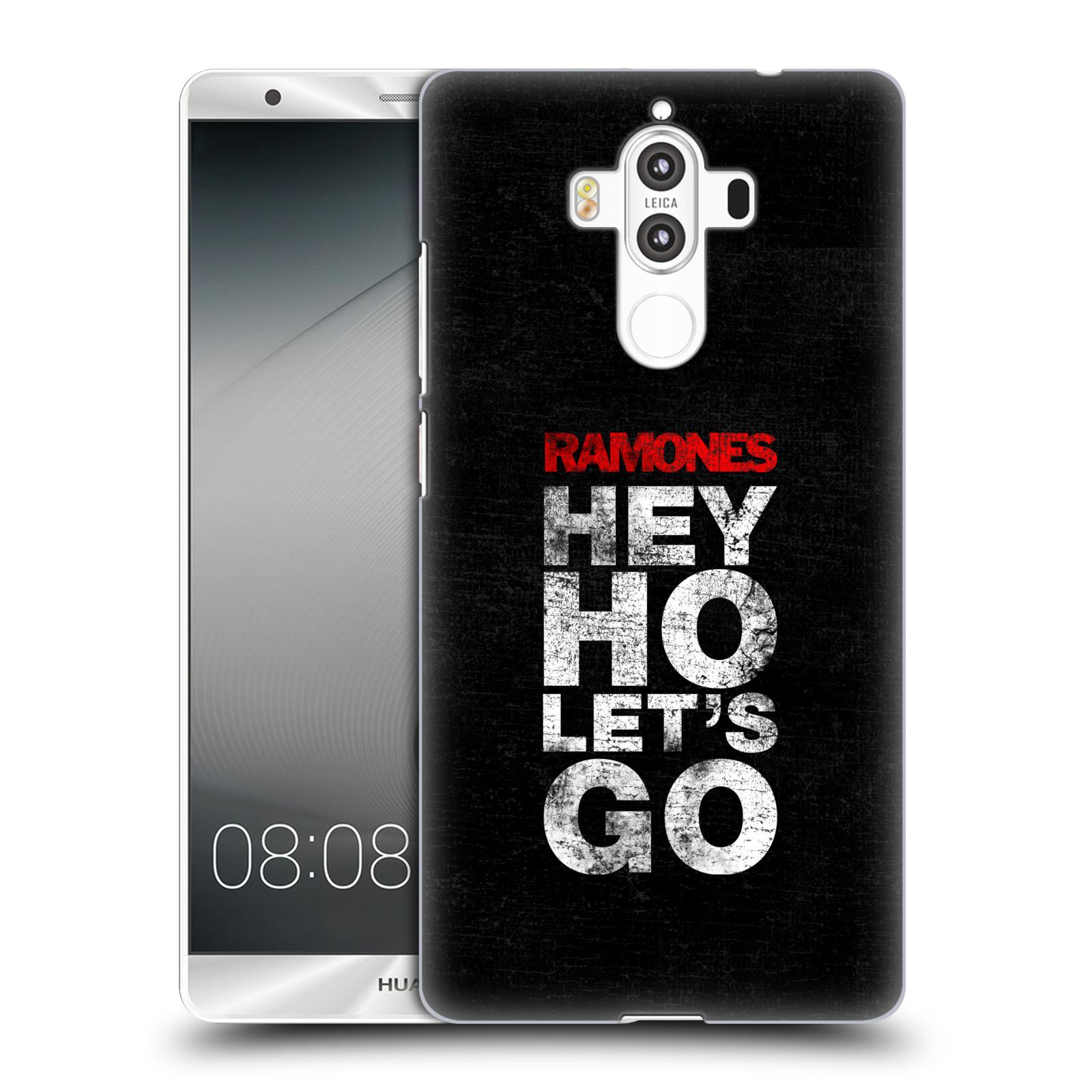 Plastové pouzdro na mobil Huawei Mate 9 - Head Case The Ramones - HEY HO LET´S GO (Plastový kryt či obal na mobilní telefon s oficiálním licencovaným motivem The Ramones pro Huawei Mate 9 (Dual SIM))