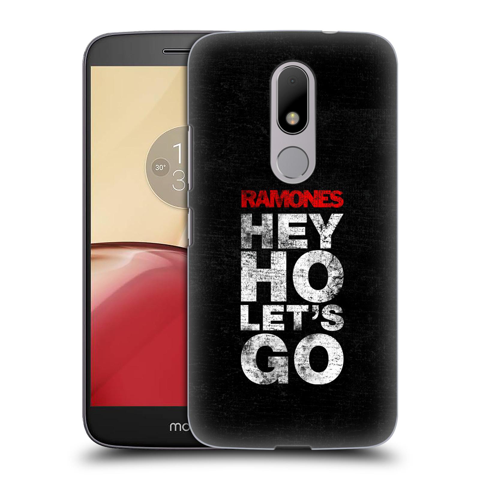 Plastové pouzdro na mobil Lenovo Moto M HEAD CASE The Ramones - HEY HO LET´S GO (Plastový kryt či obal na mobilní telefon s oficiálním licencovaným motivem The Ramones pro Lenovo (Motorola) Moto M / Moto M Dual SIM)