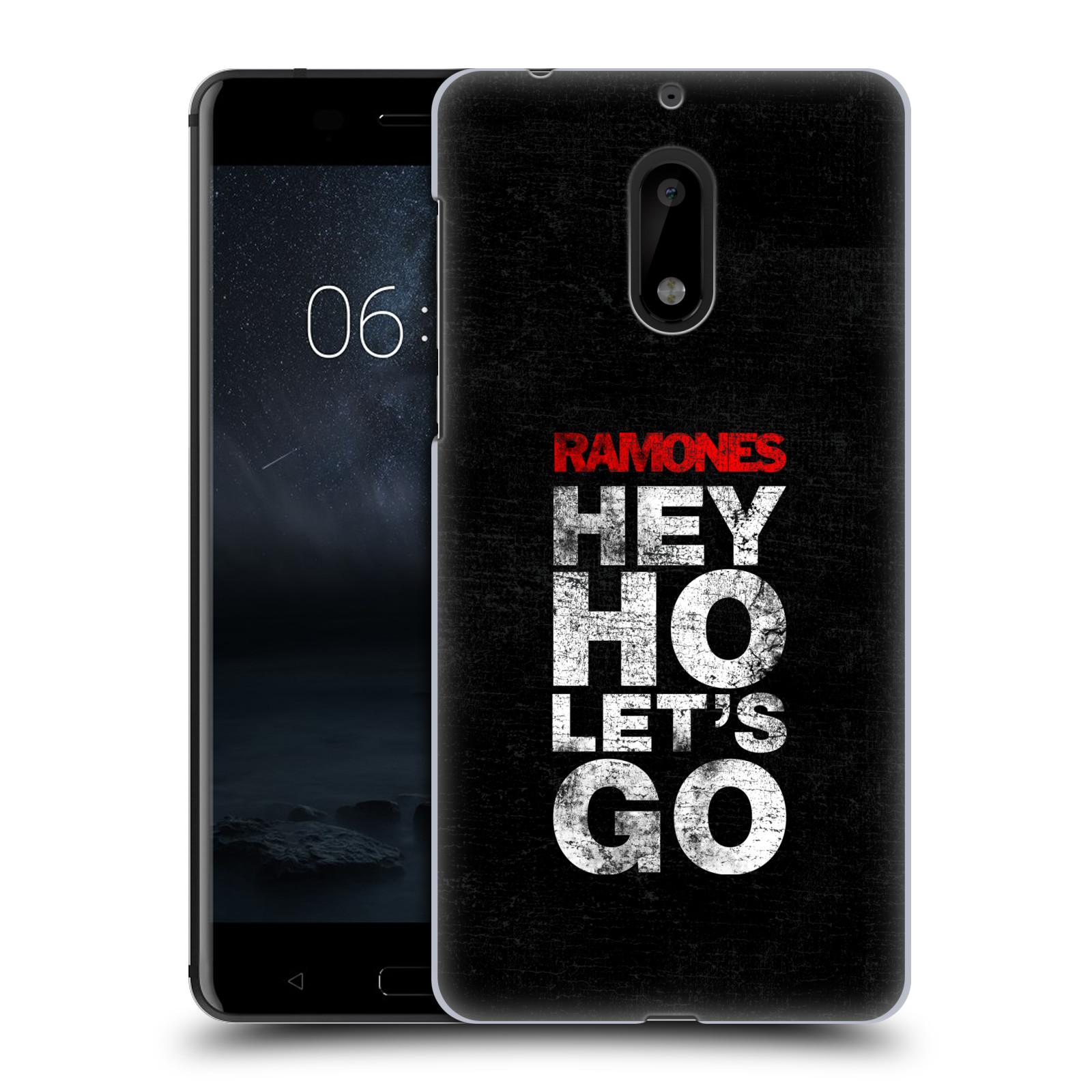 Plastové pouzdro na mobil Nokia 6 - Head Case The Ramones - HEY HO LET´S GO (Plastový kryt či obal na mobilní telefon s oficiálním licencovaným motivem The Ramones pro Nokia 6 (Dual SIM))