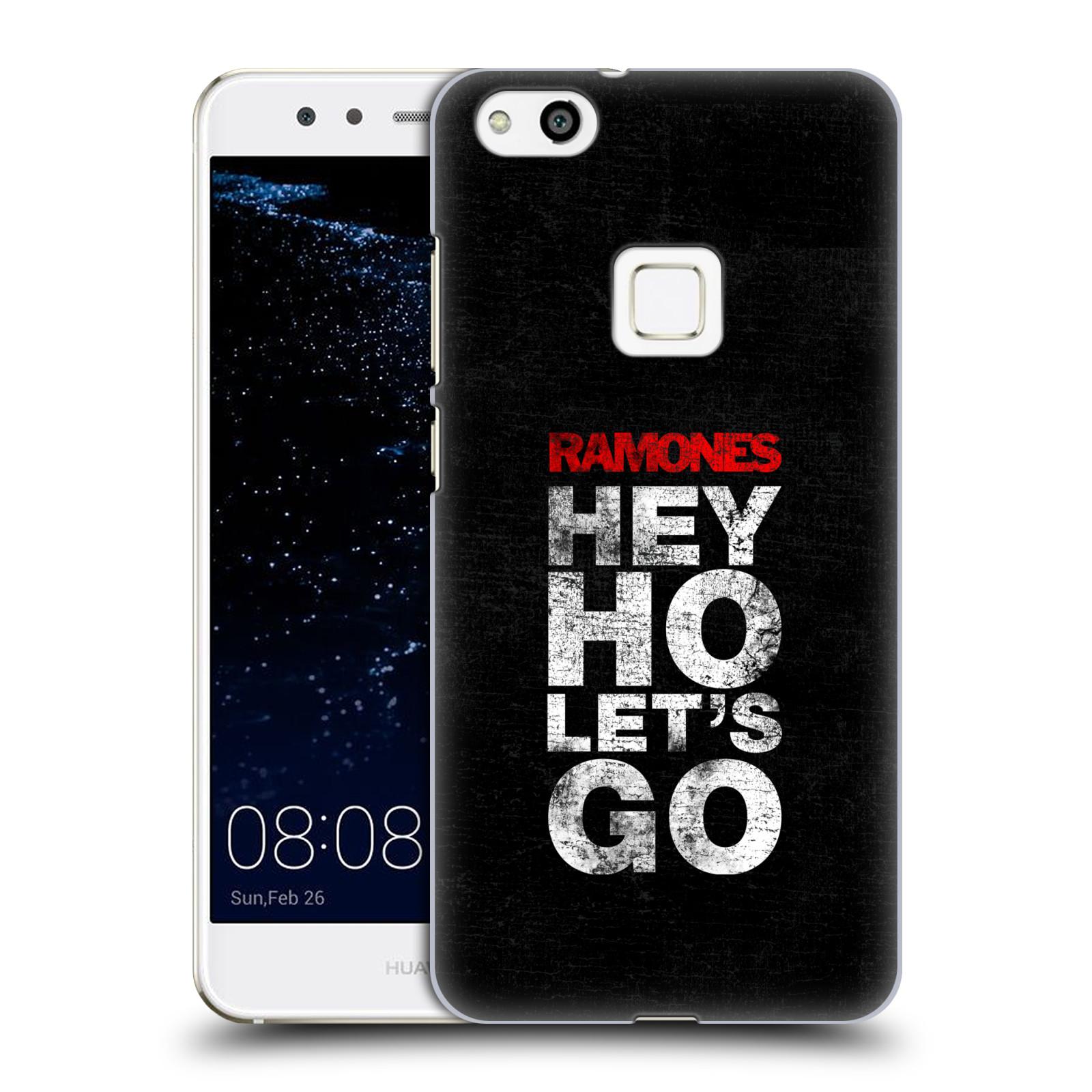 Plastové pouzdro na mobil Huawei P10 Lite Head Case - The Ramones - HEY HO LET´S GO (Plastový kryt či obal na mobilní telefon s oficiálním licencovaným motivem The Ramones pro Huawei P10 Lite Dual SIM (LX1/LX1A))