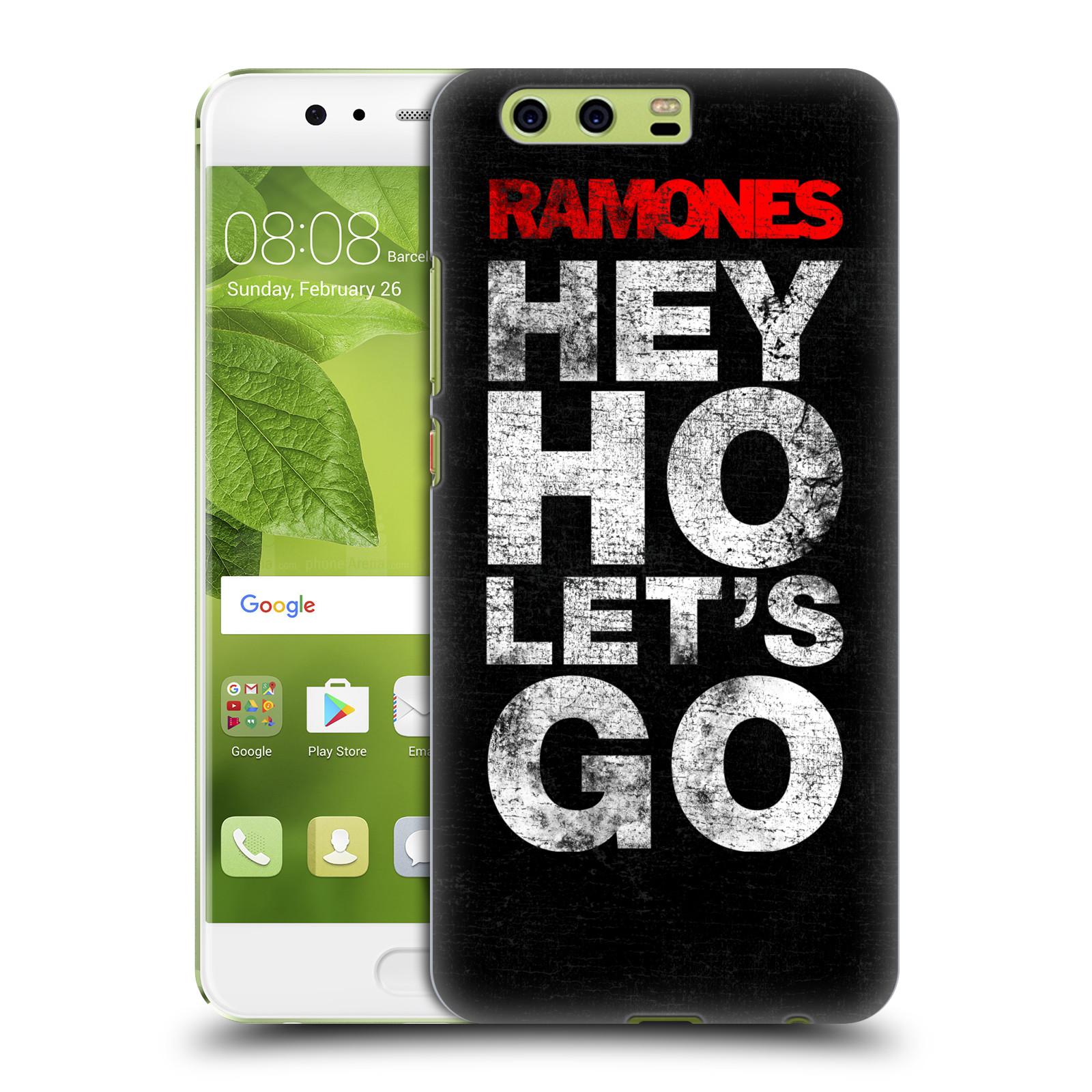 Plastové pouzdro na mobil Huawei P10 Plus - Head Case The Ramones - HEY HO LET´S GO (Plastový kryt či obal na mobilní telefon s oficiálním licencovaným motivem The Ramones pro Huawei P10 Plus (Dual SIM))