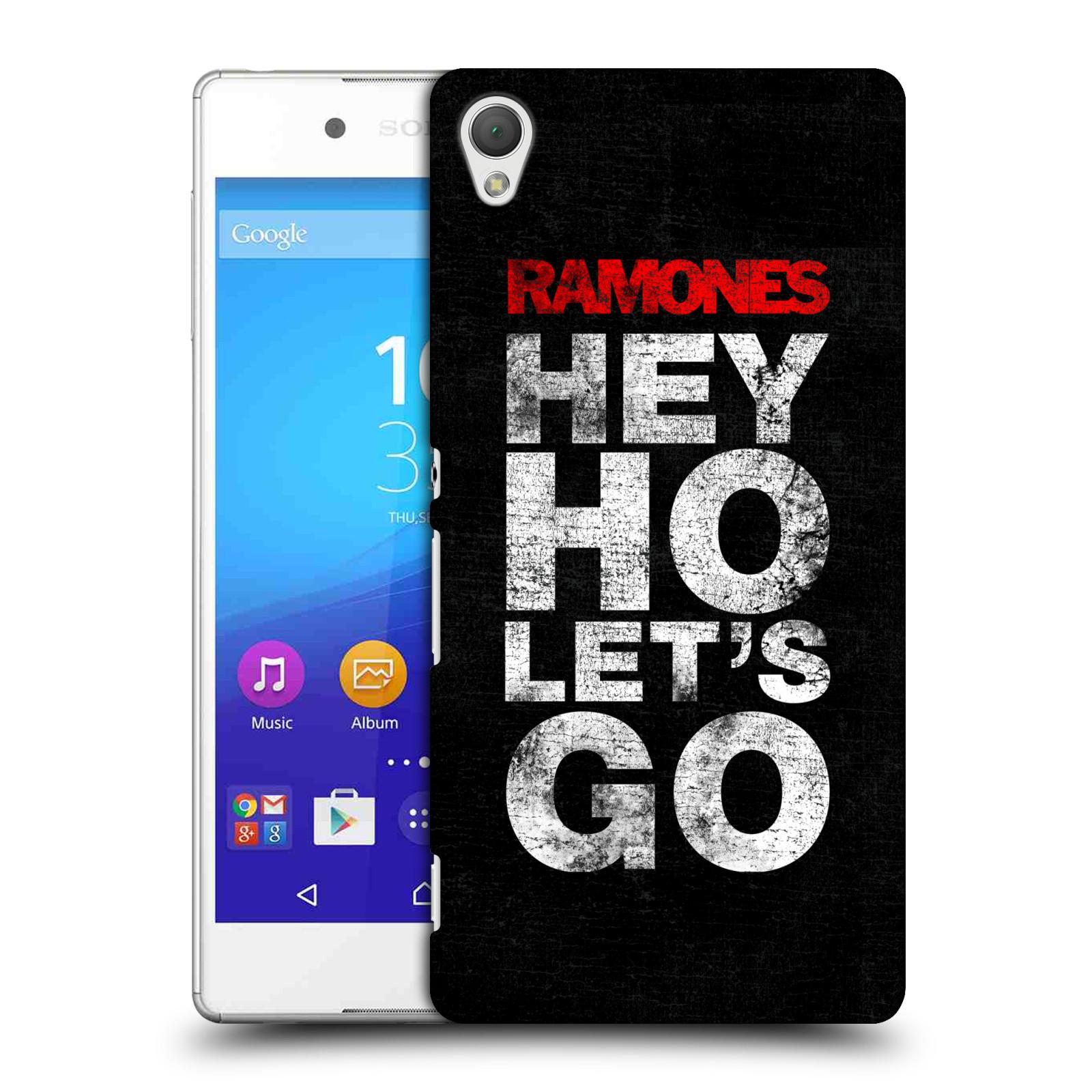 Plastové pouzdro na mobil Sony Xperia Z3+ (Plus) HEAD CASE The Ramones - HEY HO LET´S GO (Plastový kryt či obal na mobilní telefon s oficiálním licencovaným motivem The Ramones pro Sony Xperia Z3+ a Sony Xperia Z4 )