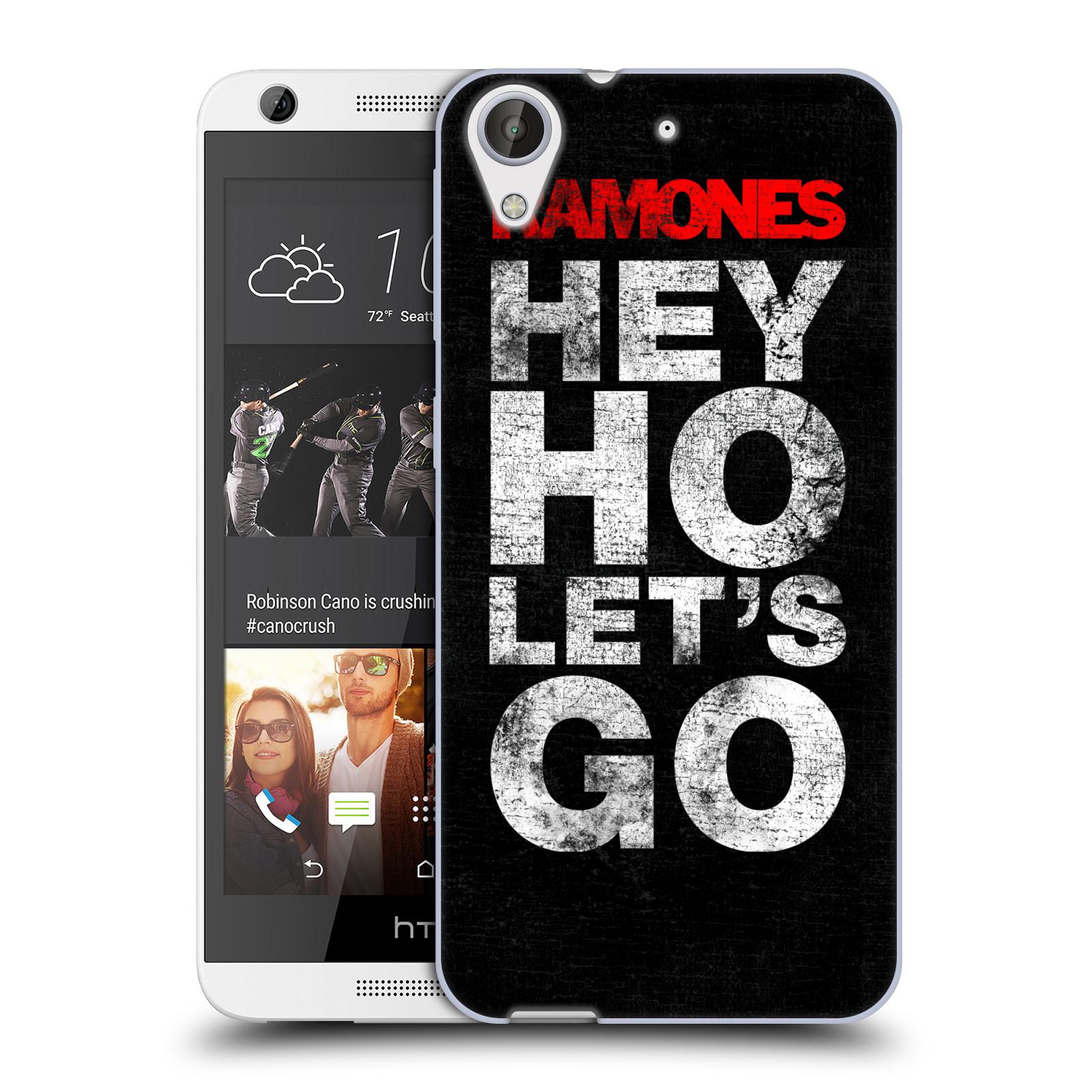 Silikonové pouzdro na mobil HTC Desire 626 / 626G HEAD CASE The Ramones - HEY HO LET´S GO (Silikonový kryt či obal na mobilní telefon s oficiálním licencovaným motivem The Ramones pro HTC Desire 626 a 626G Dual SIM)