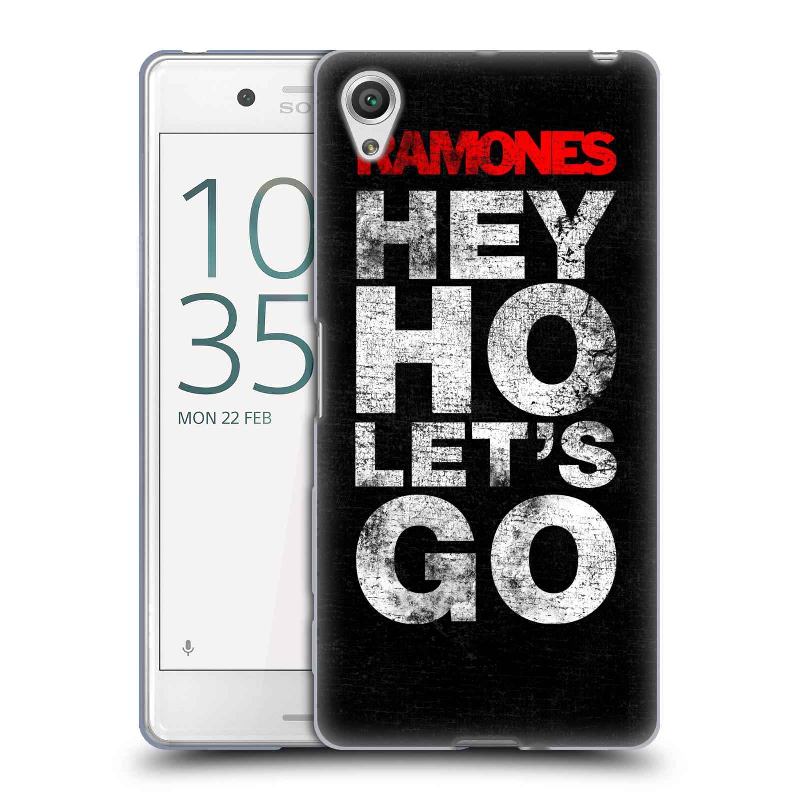 Silikonové pouzdro na mobil Sony Xperia X Performance HEAD CASE The Ramones - HEY HO LET´S GO (Silikonový kryt či obal na mobilní telefon s oficiálním licencovaným motivem The Ramones pro Sony Xperia X Performance F8132)