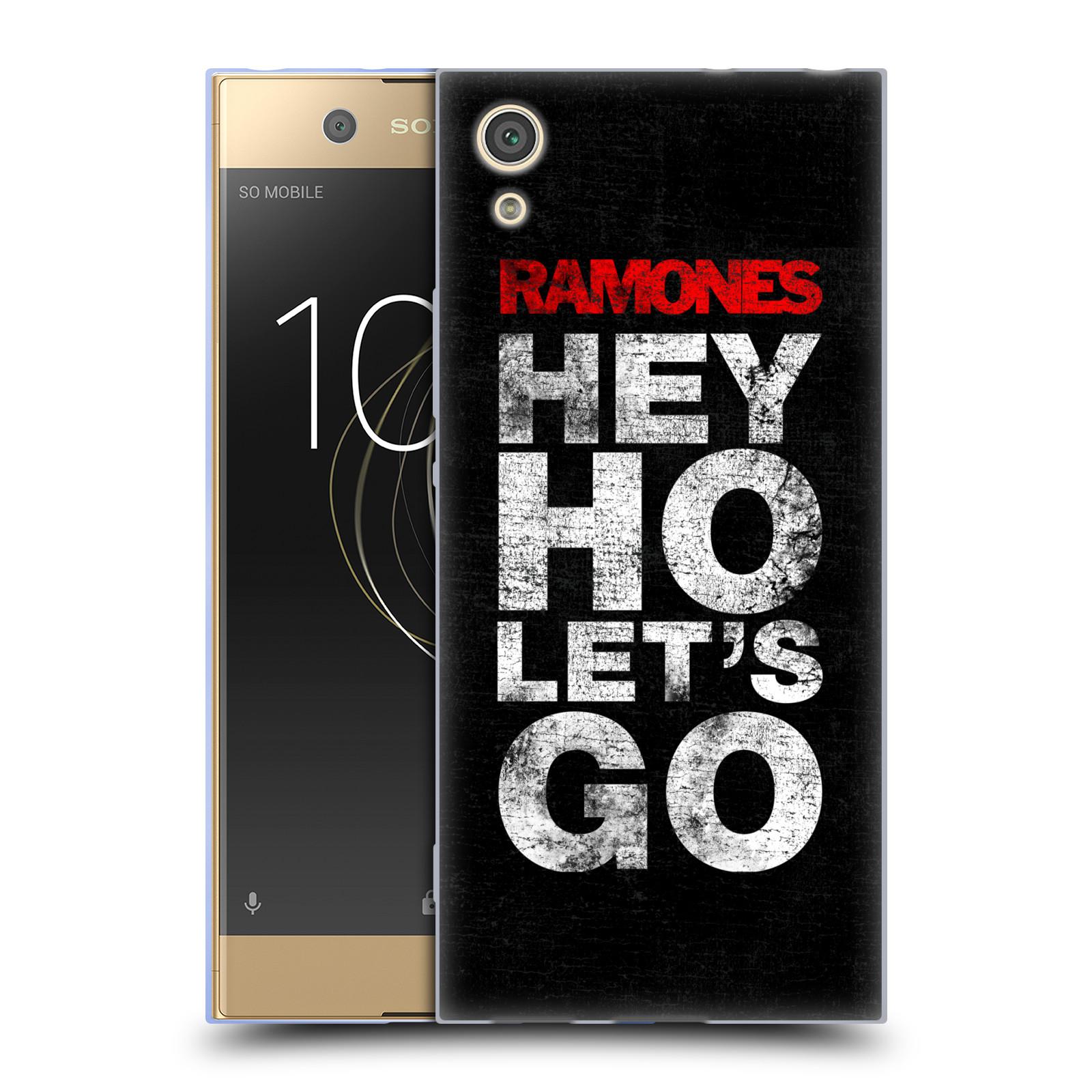 Silikonové pouzdro na mobil Sony Xperia XA1 - Head Case - The Ramones - HEY HO LET´S GO (Silikonový kryt či obal na mobilní telefon Sony Xperia XA1 G3121 s motivem The Ramones - HEY HO LET´S GO)
