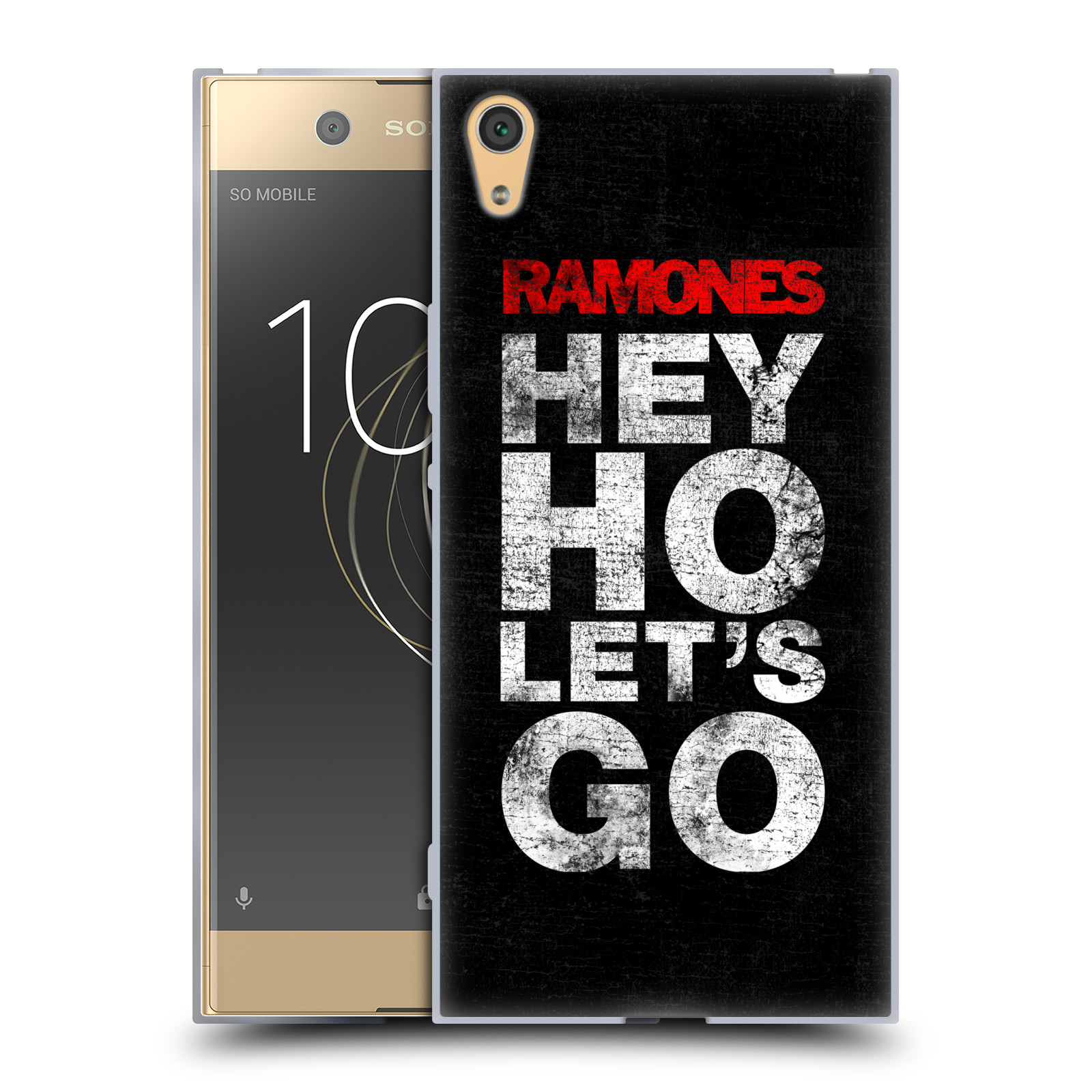 Silikonové pouzdro na mobil Sony Xperia XA1 Ultra - Head Case - The Ramones - HEY HO LET´S GO (Silikonový kryt či obal na mobilní telefon Sony Xperia XA1 Ultra G3221 s motivem The Ramones - HEY HO LET´S GO)