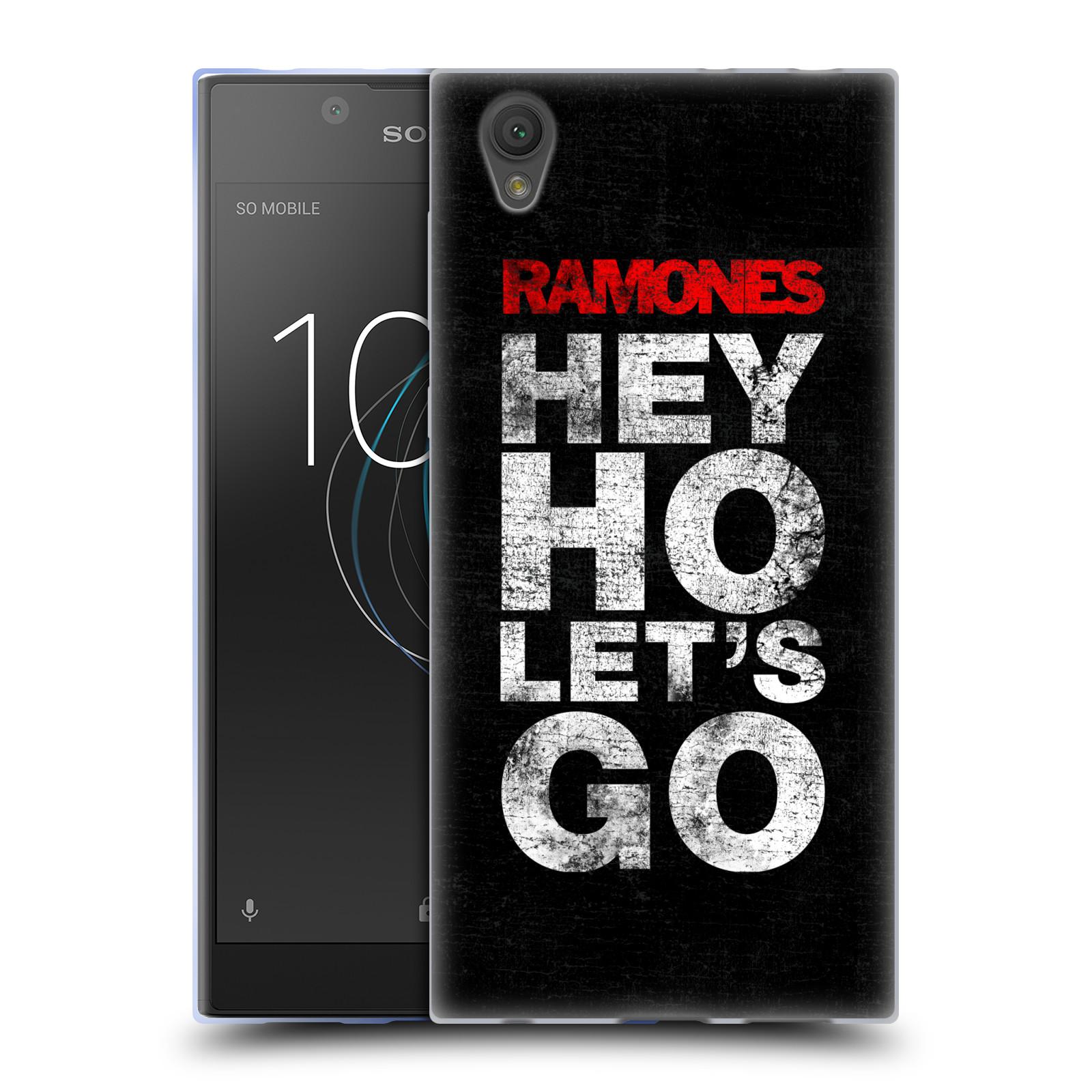 Silikonové pouzdro na mobil Sony Xperia L1 - Head Case - The Ramones - HEY HO LET´S GO (Silikonový kryt či obal na mobilní telefon Sony Xperia L1 G3311 s motivem The Ramones - HEY HO LET´S GO)