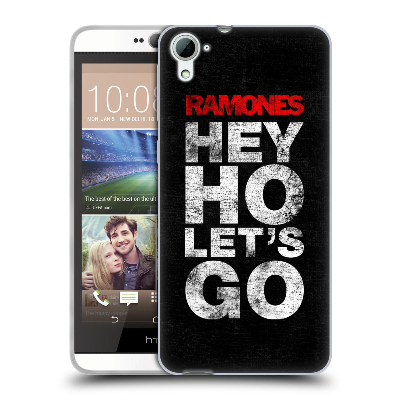 Silikonové pouzdro na mobil HTC Desire 826 HEAD CASE The Ramones - HEY HO LET´S GO (Silikonový kryt či obal na mobilní telefon s oficiálním licencovaným motivem The Ramones pro HTC Desire 826 Dual SIM)