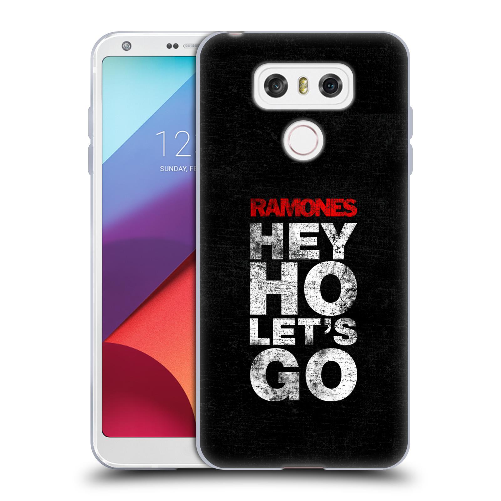 Silikonové pouzdro na mobil LG G6 - Head Case The Ramones - HEY HO LET´S GO (Silikonový kryt či obal na mobilní telefon s oficiálním licencovaným motivem The Ramones pro LG G6 H870 / LG G6 Dual SIM H870DS)