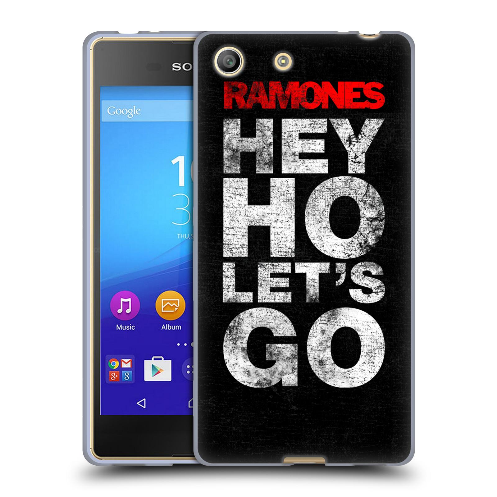 Silikonové pouzdro na mobil Sony Xperia M5 HEAD CASE The Ramones - HEY HO LET´S GO (Silikonový kryt či obal na mobilní telefon s oficiálním licencovaným motivem The Ramones pro Sony Xperia M5 Dual SIM / Aqua)