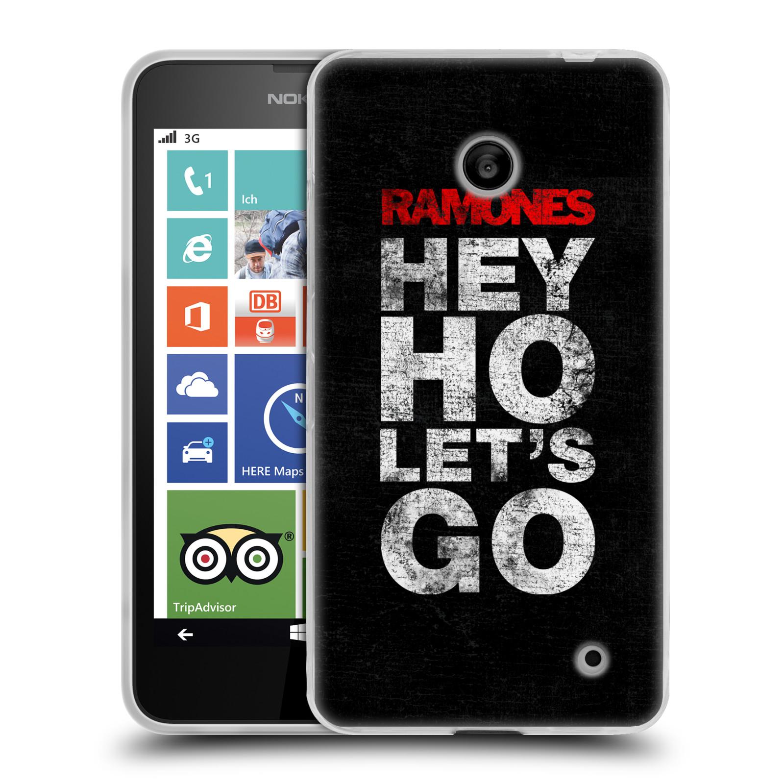 Silikonové pouzdro na mobil Nokia Lumia 635 HEAD CASE The Ramones - HEY HO LET´S GO (Silikonový kryt či obal na mobilní telefon s oficiálním licencovaným motivem The Ramones pro Nokia Lumia 635 Dual SIM)