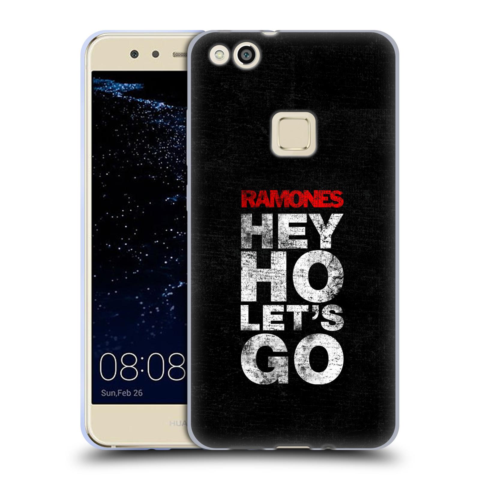 Silikonové pouzdro na mobil Huawei P10 Lite Head Case - The Ramones - HEY HO LET´S GO (Silikonový kryt či obal na mobilní telefon s oficiálním licencovaným motivem The Ramones pro Huawei P10 Lite Dual SIM (LX1/LX1A))