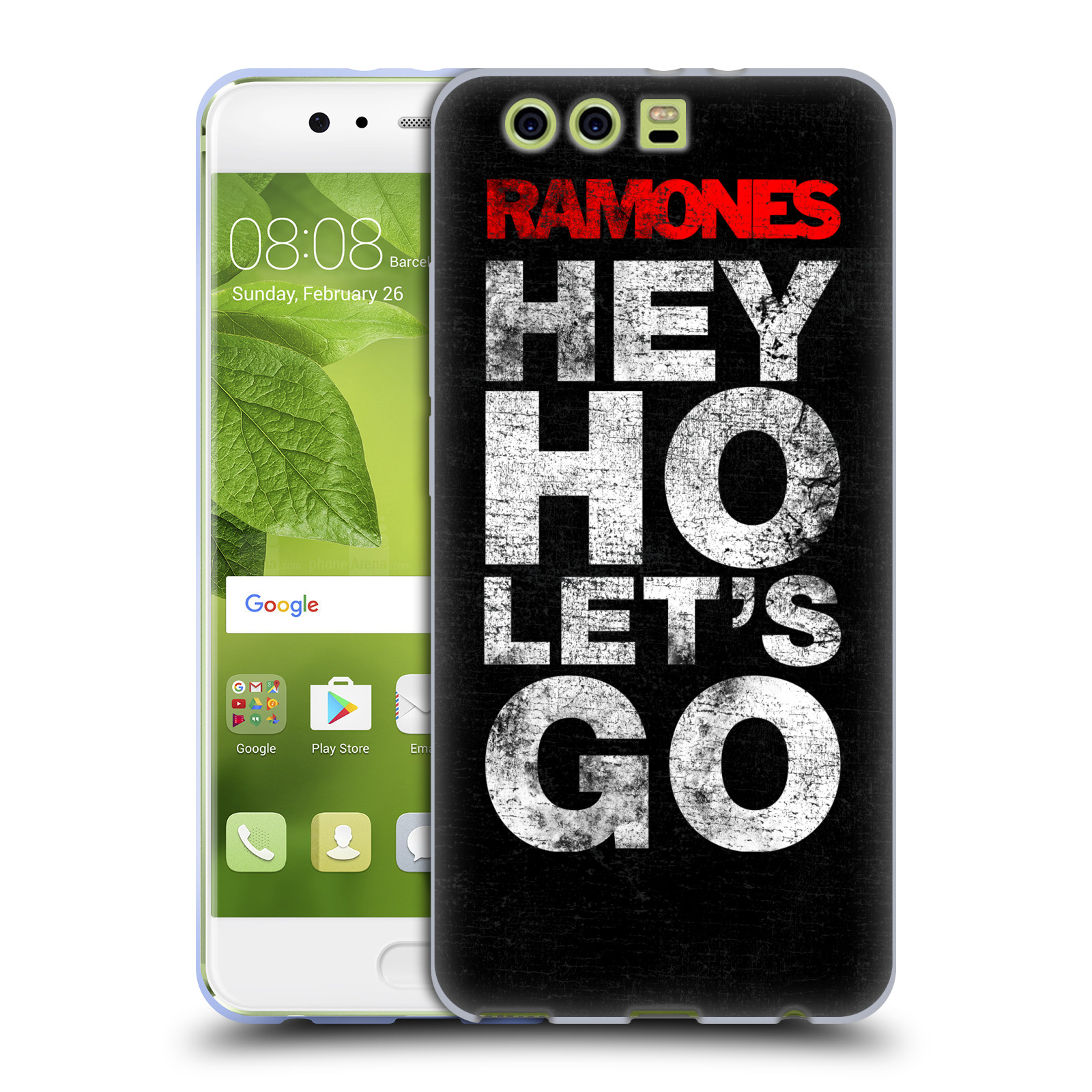 Silikonové pouzdro na mobil Huawei P10 Plus - Head Case The Ramones - HEY HO LET´S GO (Silikonový kryt či obal na mobilní telefon s oficiálním licencovaným motivem The Ramones pro Huawei P10 Plus (Dual SIM))
