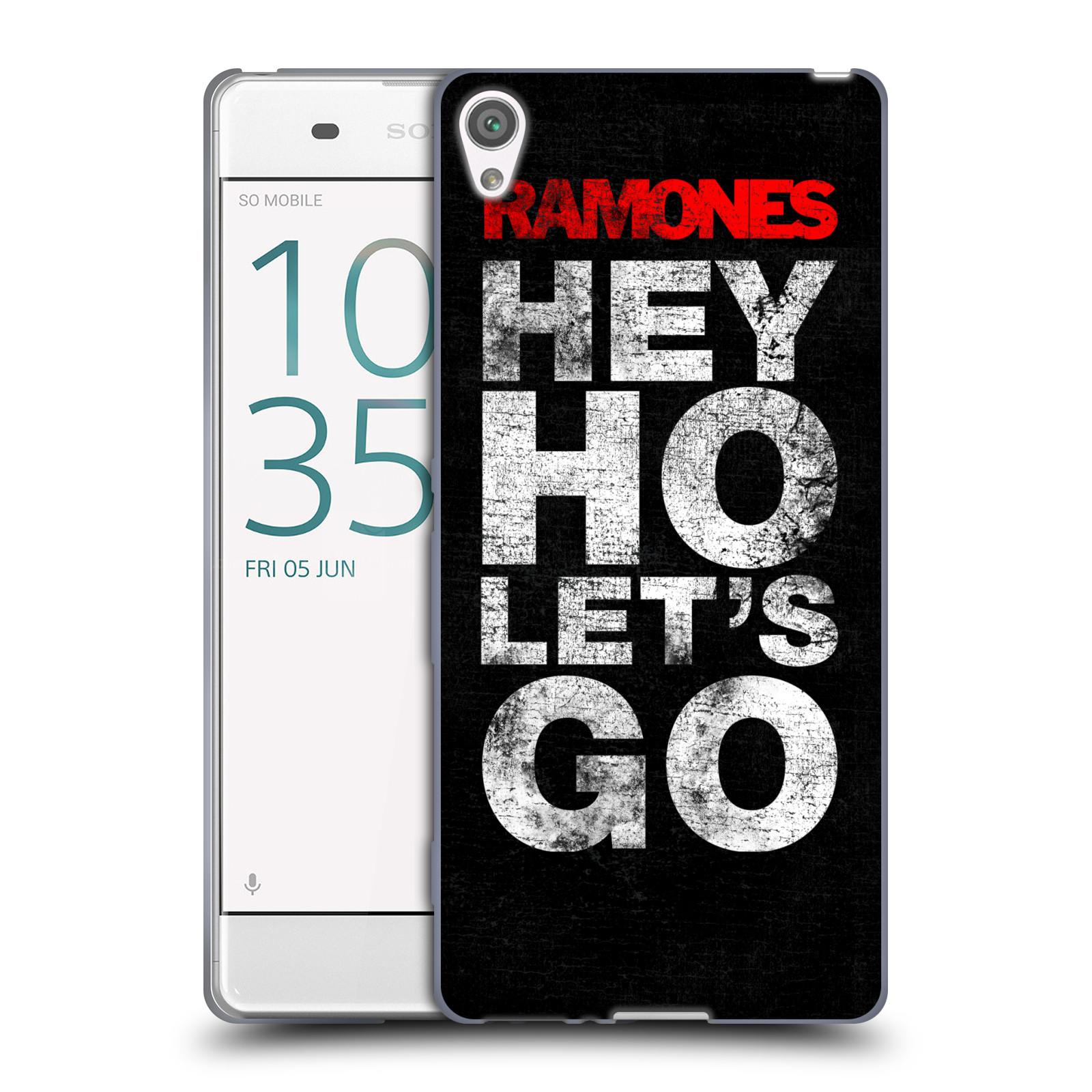 Silikonové pouzdro na mobil Sony Xperia XA HEAD CASE The Ramones - HEY HO LET´S GO (Silikonový kryt či obal na mobilní telefon s oficiálním licencovaným motivem The Ramones pro Sony Xperia XA F3111 / Dual SIM F3112)