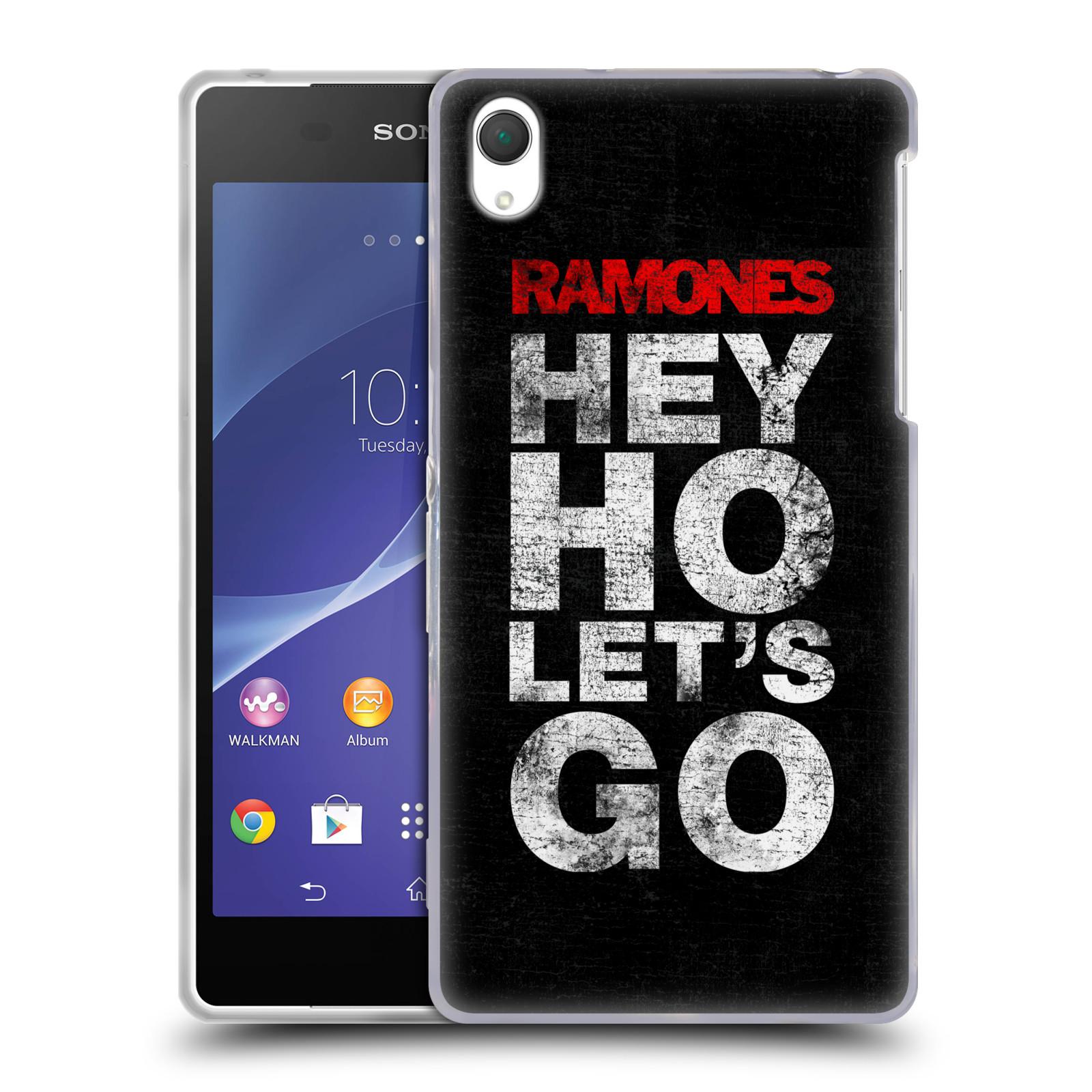 Silikonové pouzdro na mobil Sony Xperia Z2 D6503 HEAD CASE The Ramones - HEY HO LET´S GO (Silikonový kryt či obal na mobilní telefon s oficiálním licencovaným motivem The Ramones pro Sony Xperia Z2)