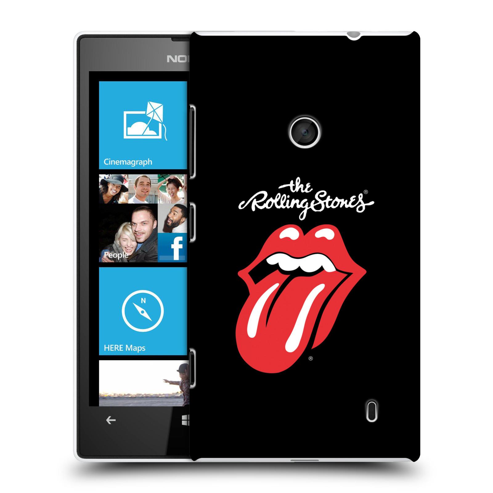 Plastové pouzdro na mobil Nokia Lumia 520 HEAD CASE The Rolling Stones - Classic Lick (Plastový kryt či obal The Rolling Stones Official na mobilní telefon Nokia Lumia 520 )