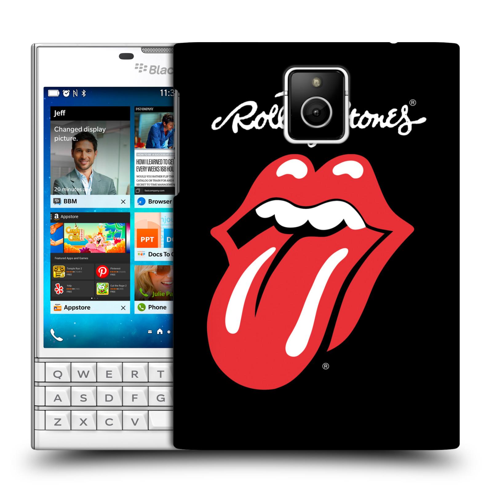 Plastové pouzdro na mobil Blackberry PASSPORT HEAD CASE The Rolling Stones - Classic Lick (Plastový kryt či obal The Rolling Stones Official na mobilní telefon Blackberry PASSPORT)