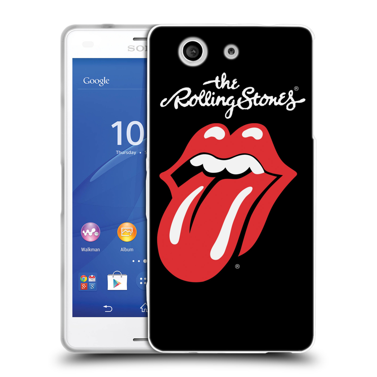 Silikonové pouzdro na mobil Sony Xperia Z3 Compact D5803 HEAD CASE The Rolling Stones - Classic Lick