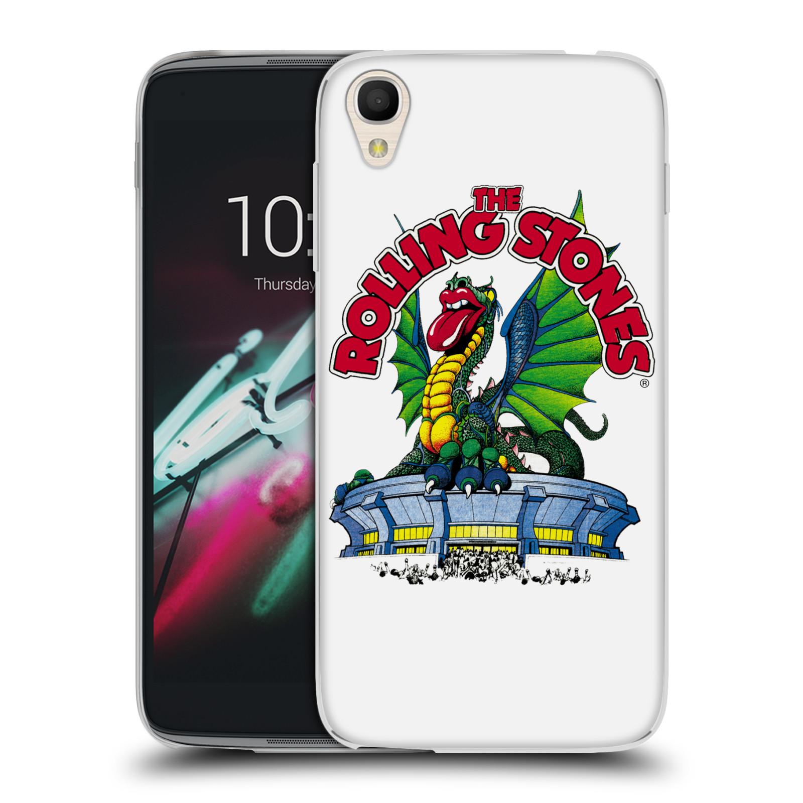 "Silikonové pouzdro na mobil Alcatel One Touch 6039Y Idol 3 HEAD CASE The Rolling Stones - Dragon (Silikonový kryt či obal The Rolling Stones Official na mobilní telefon Alcatel One Touch Idol 3 OT-6039Y s 4,7"" displejem)"
