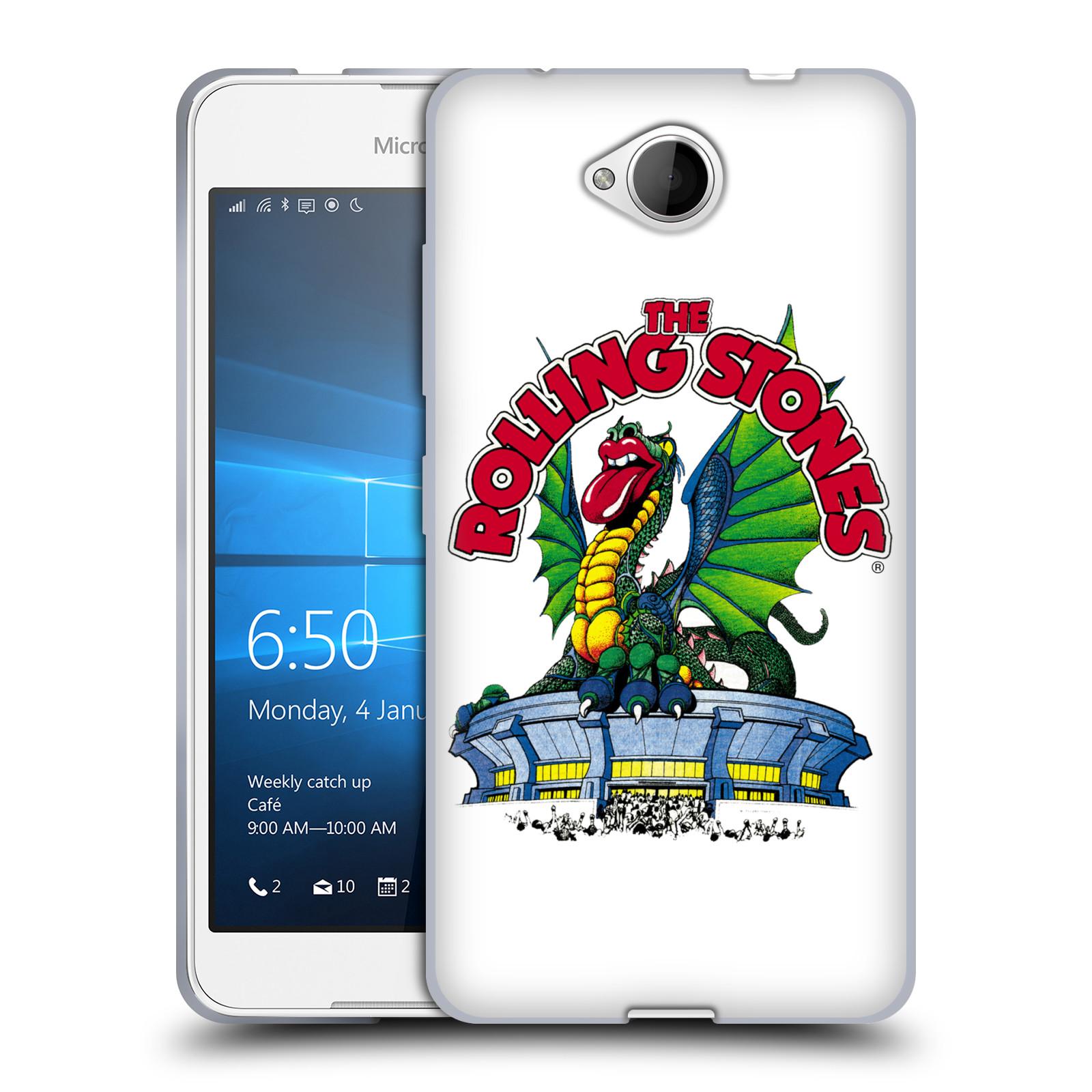 Silikonové pouzdro na mobil Microsoft Lumia 650 HEAD CASE The Rolling Stones – Dragon (Silikonový kryt či obal The Rolling Stones Official na mobilní telefon Microsoft Lumia 650)