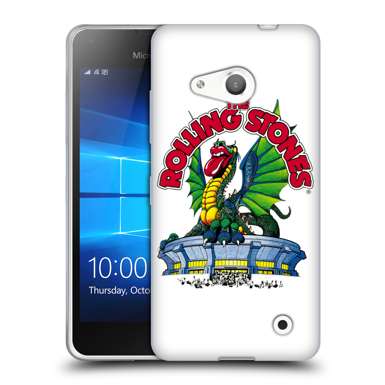 Silikonové pouzdro na mobil Microsoft Lumia 550 HEAD CASE The Rolling Stones – Dragon (Silikonový kryt či obal The Rolling Stones Official na mobilní telefon Microsoft Lumia 550)