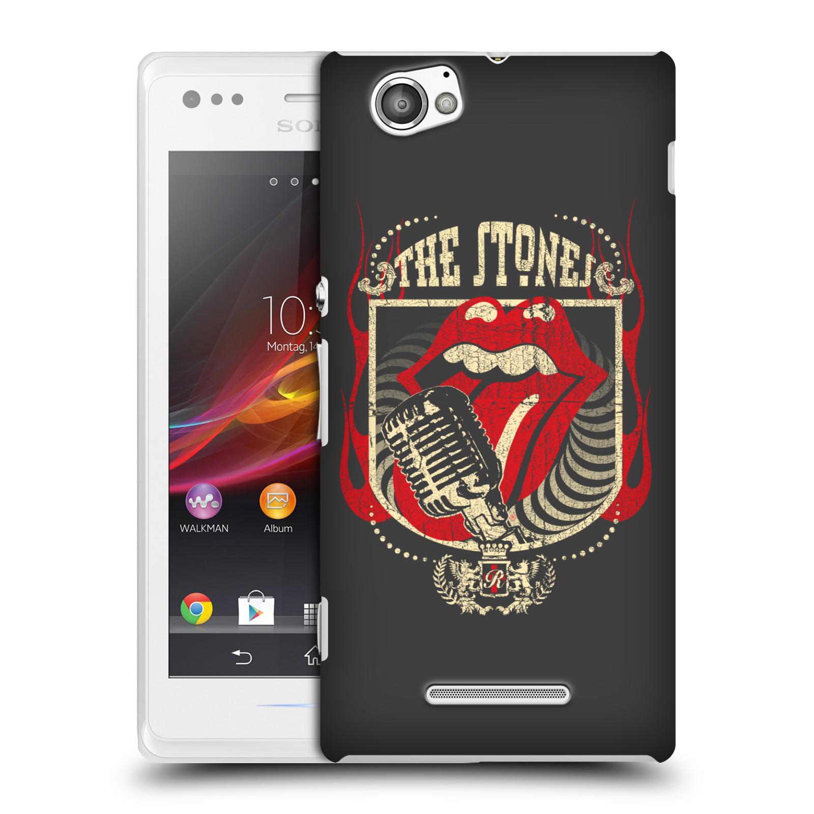 Plastové pouzdro na mobil Sony Xperia M C1905 HEAD CASE The Rolling Stones - Mikrák (Plastový kryt či obal The Rolling Stones Official na mobilní telefon Sony Xperia M )