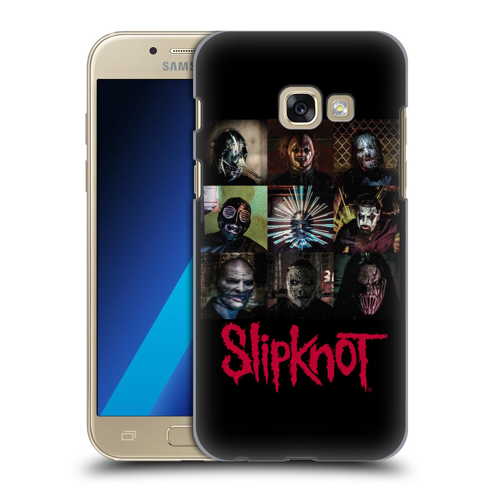 Plastové pouzdro na mobil Samsung Galaxy A3 (2017) HEAD CASE Slipknot - Bloky
