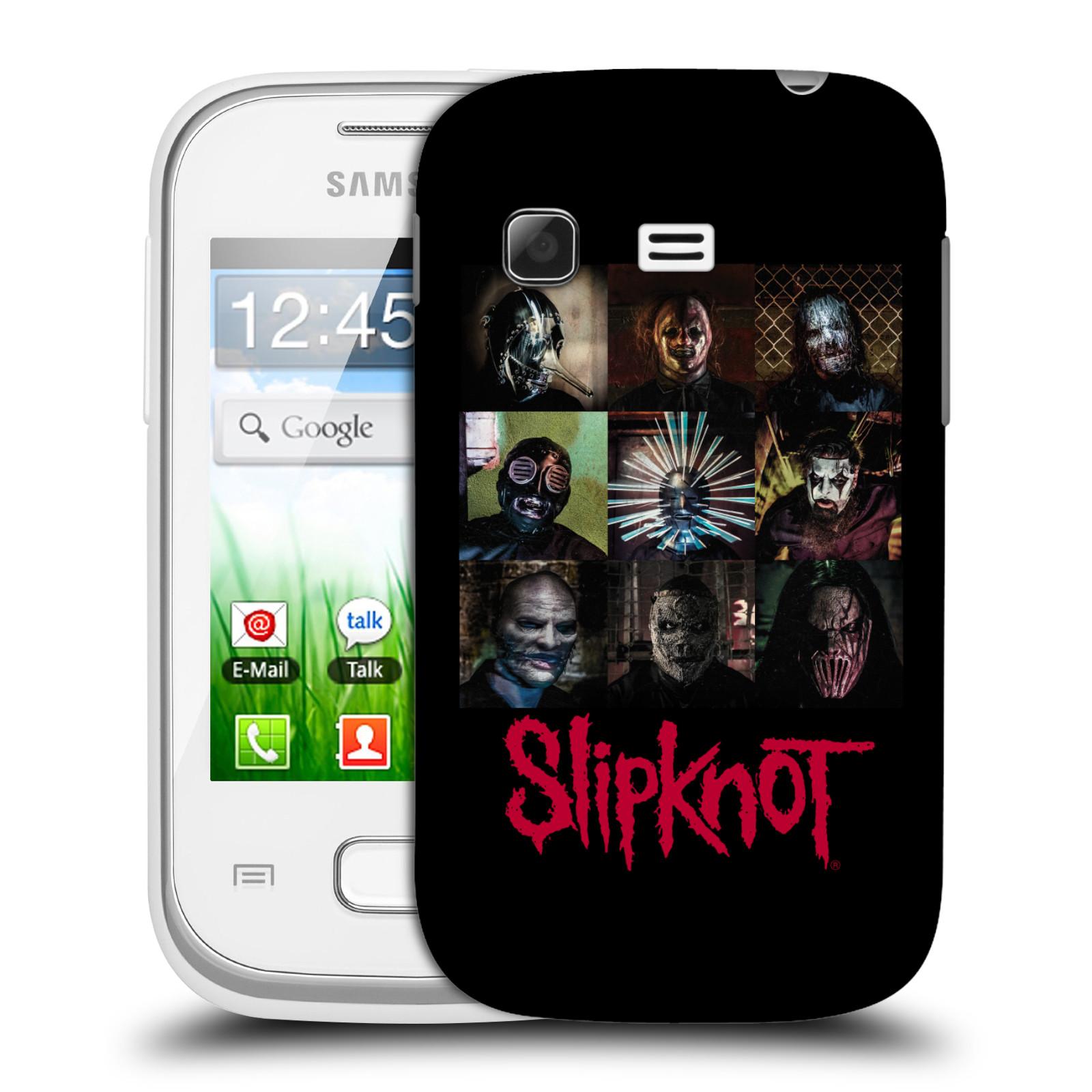 Plastové pouzdro na mobil Samsung Galaxy Pocket HEAD CASE Slipknot - Bloky (Plastový kryt či obal na mobilní telefon licencovaným motivem Slipknot pro Samsung Galaxy Pocket GT-S5300)