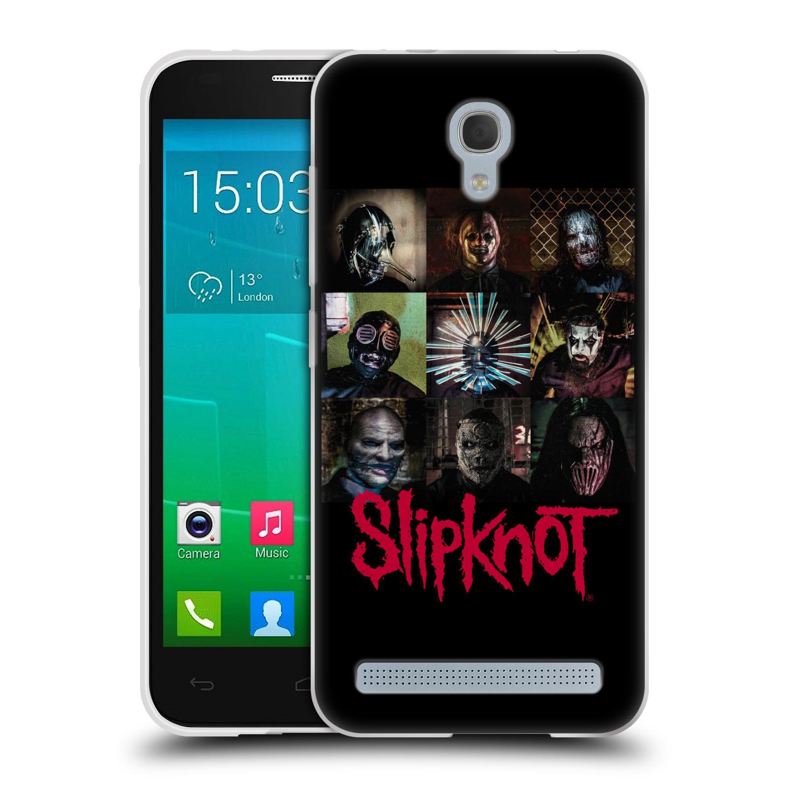 Silikonové pouzdro na mobil Alcatel One Touch Idol 2 Mini S 6036Y HEAD CASE Slipknot - Bloky (Silikonový kryt či obal na mobilní telefon licencovaným motivem Slipknot pro Alcatel Idol 2 Mini S OT-6036Y)