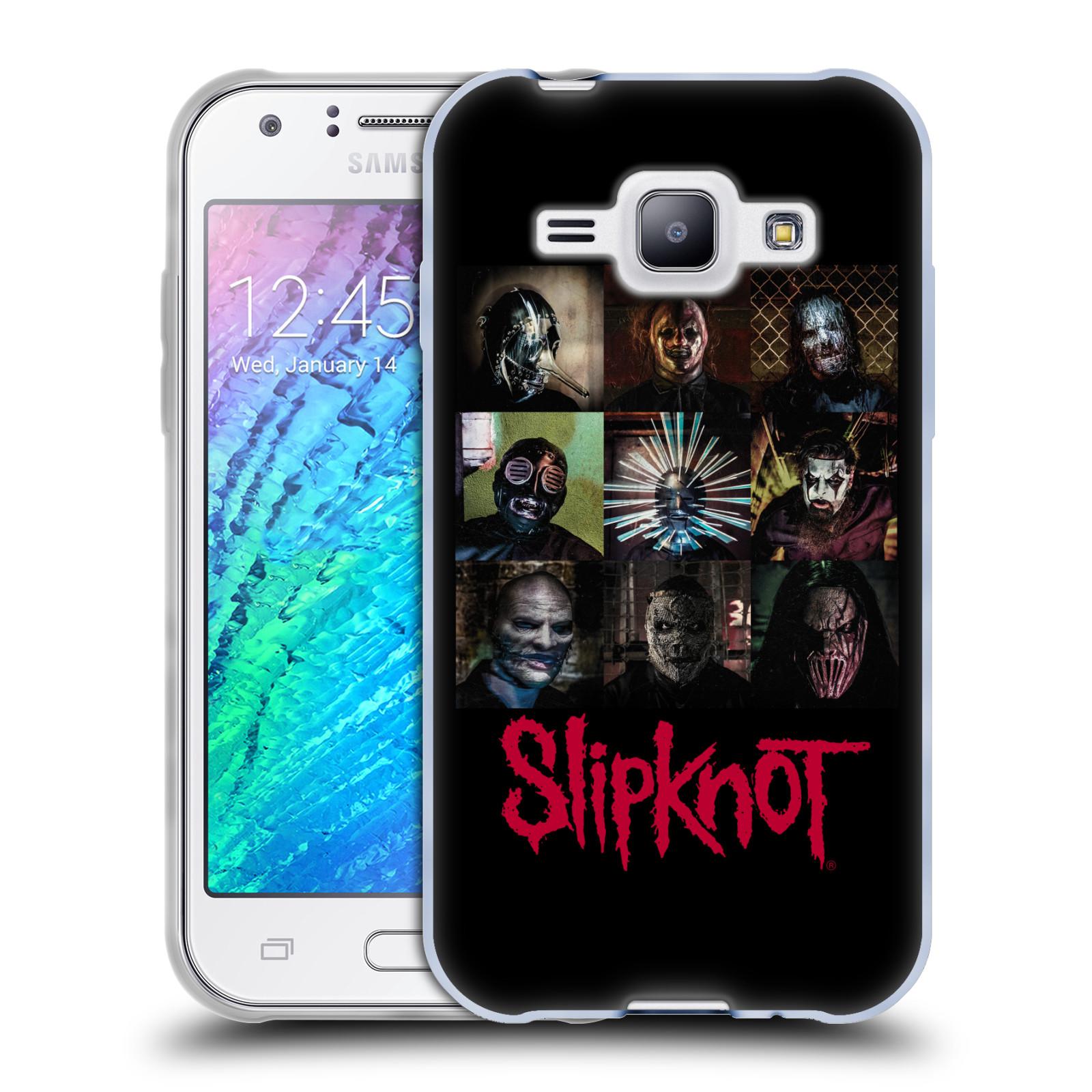 Silikonové pouzdro na mobil Samsung Galaxy J1 HEAD CASE Slipknot - Bloky (Silikonový kryt či obal na mobilní telefon licencovaným motivem Slipknot pro Samsung Galaxy J1 a J1 Duos)