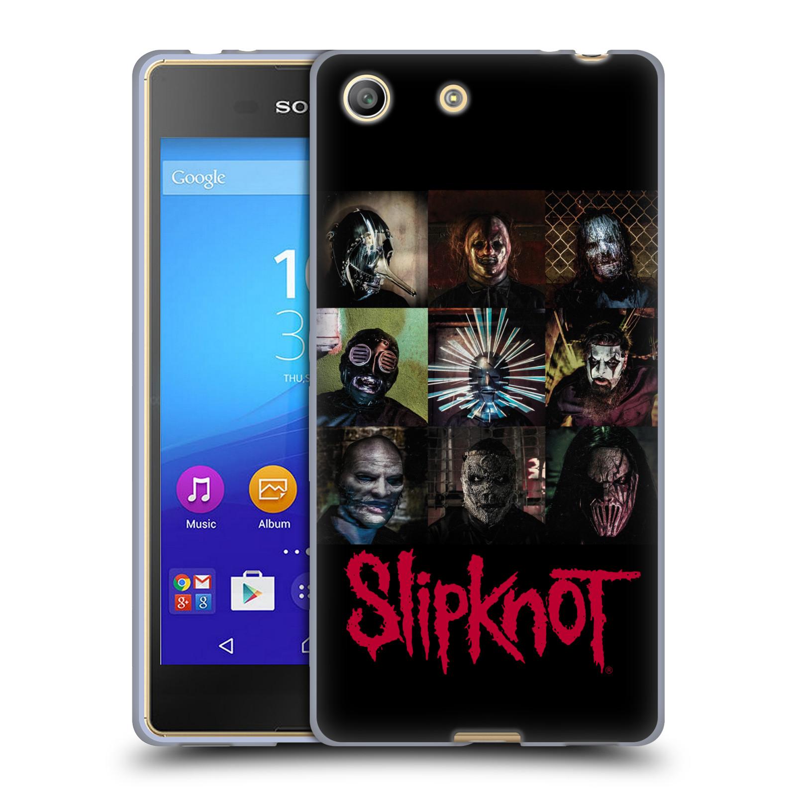 Silikonové pouzdro na mobil Sony Xperia M5 HEAD CASE Slipknot - Bloky (Silikonový kryt či obal na mobilní telefon licencovaným motivem Slipknot pro Sony Xperia M5 Dual SIM / Aqua)