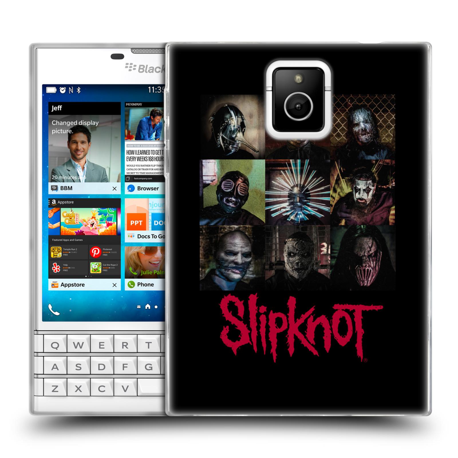 Silikonové pouzdro na mobil Blackberry PASSPORT HEAD CASE Slipknot - Bloky