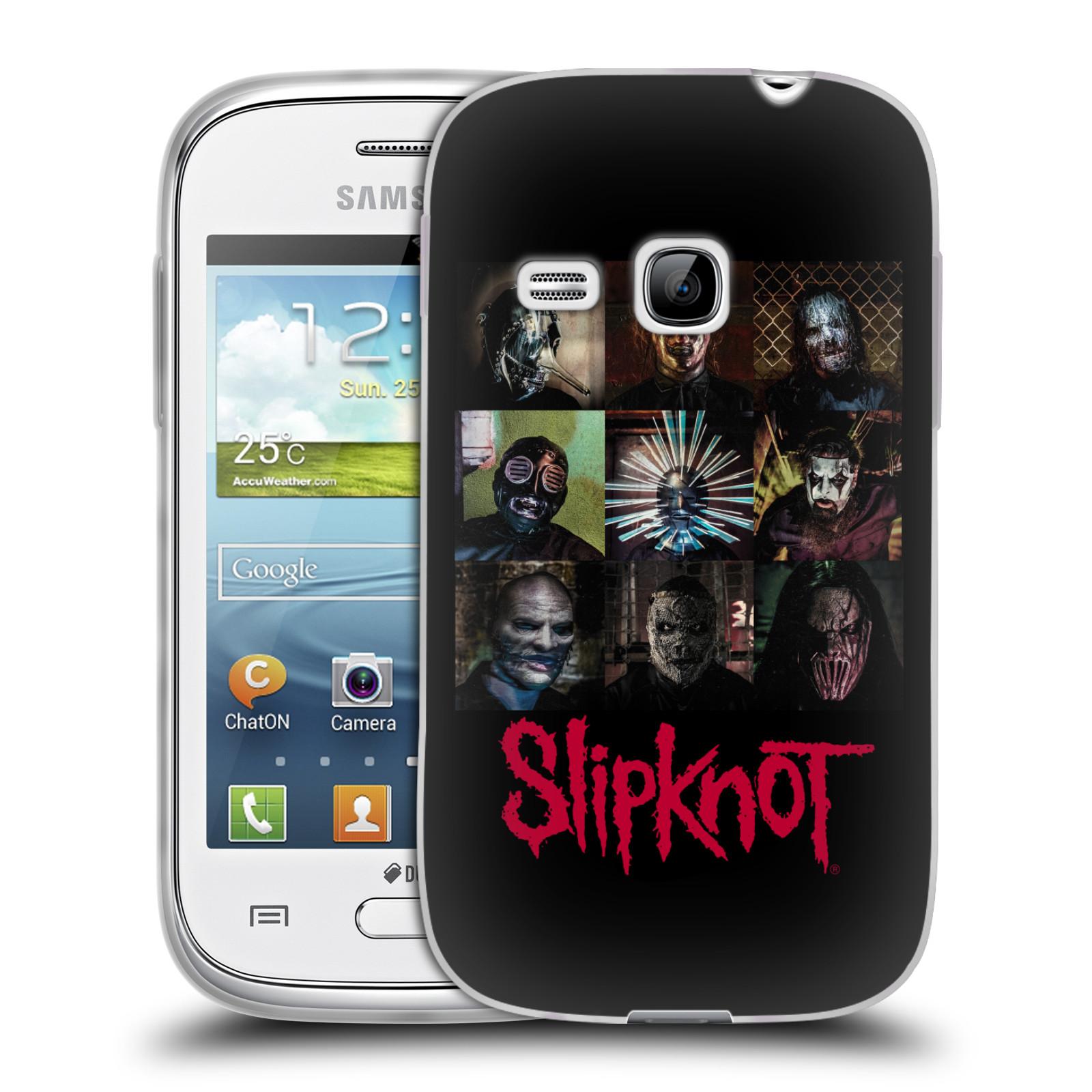 Silikonové pouzdro na mobil Samsung Galaxy Young HEAD CASE Slipknot - Bloky (Silikonový kryt či obal na mobilní telefon licencovaným motivem Slipknot pro Samsung Galaxy Young GT-S6310)