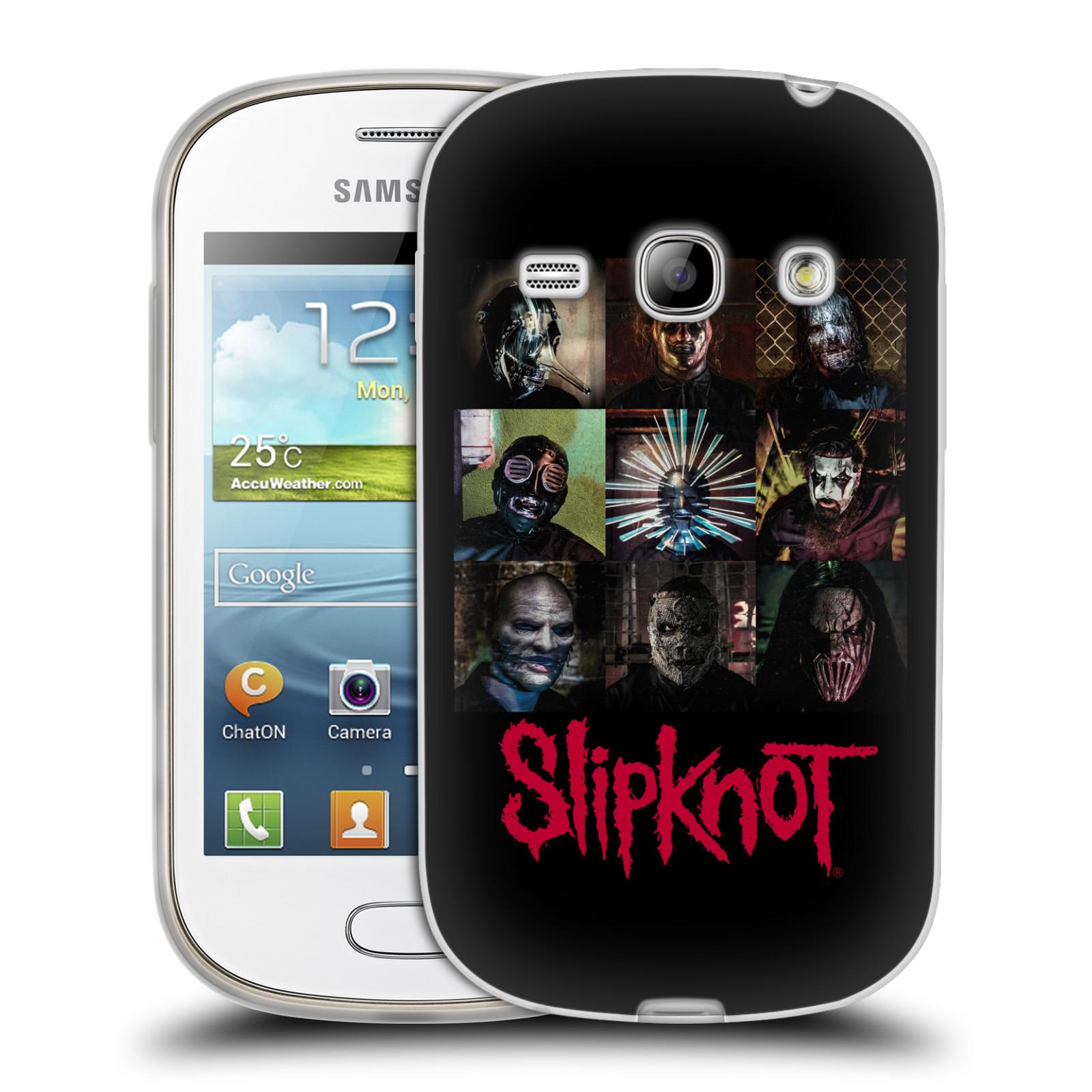 Silikonové pouzdro na mobil Samsung Galaxy Fame HEAD CASE Slipknot - Bloky (Silikonový kryt či obal na mobilní telefon licencovaným motivem Slipknot pro Samsung Galaxy Fame GT-S6810)