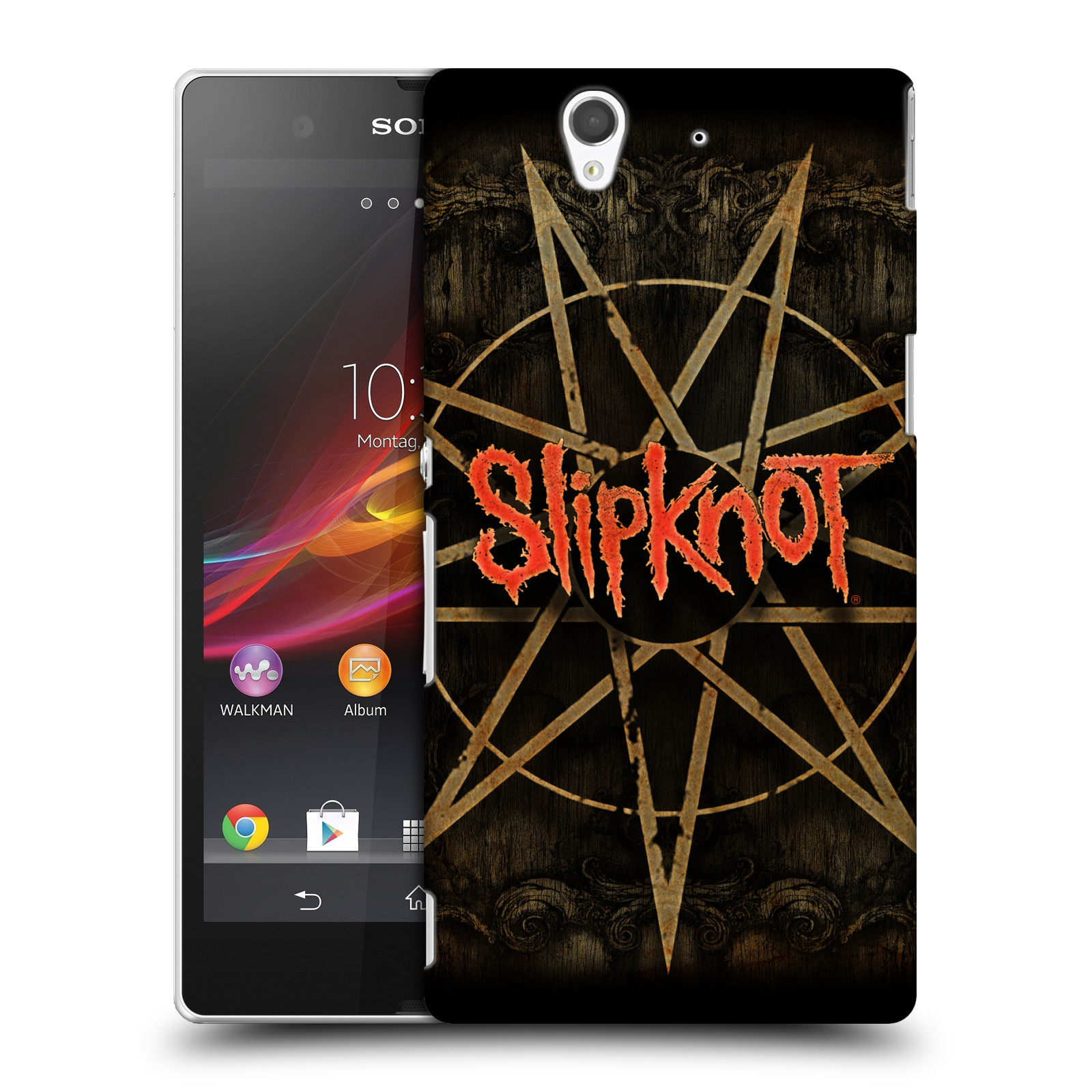 Plastové pouzdro na mobil Sony Xperia Z C6603 HEAD CASE Slipknot - Znak