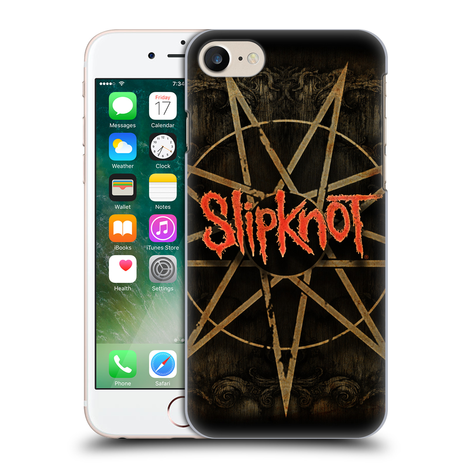 Plastové pouzdro na mobil Apple iPhone 7 HEAD CASE Slipknot - Znak