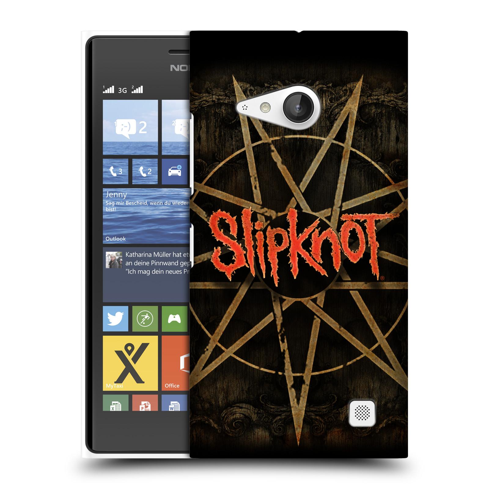 Plastové pouzdro na mobil Nokia Lumia 735 HEAD CASE Slipknot - Znak