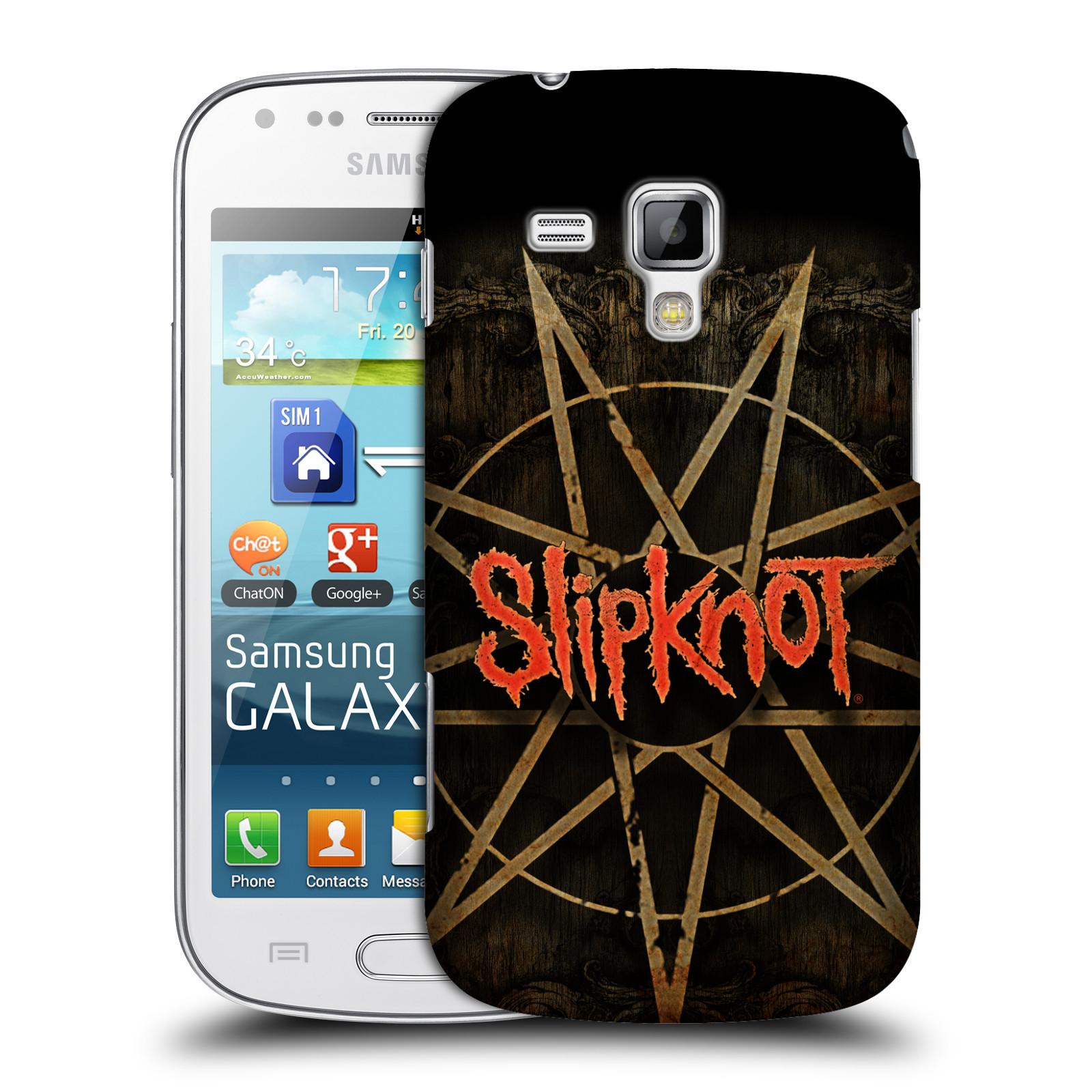Plastové pouzdro na mobil Samsung Galaxy Trend Plus HEAD CASE Slipknot - Znak (Plastový kryt či obal na mobilní telefon licencovaným motivem Slipknot pro Samsung Galaxy Trend Plus GT-S7580)