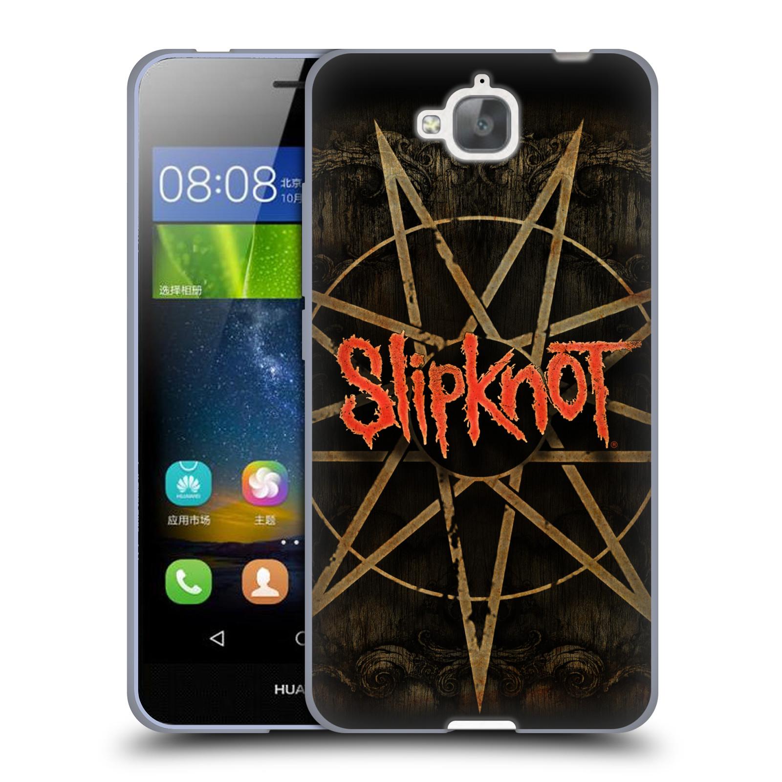Silikonové pouzdro na mobil Huawei Y6 Pro Dual Sim HEAD CASE Slipknot - Znak
