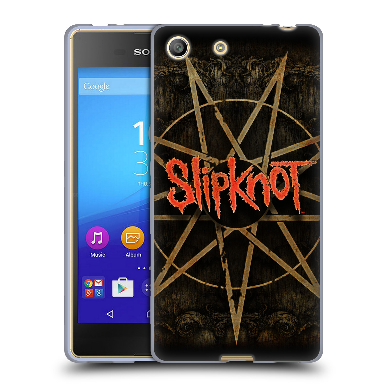 Silikonové pouzdro na mobil Sony Xperia M5 HEAD CASE Slipknot - Znak (Silikonový kryt či obal na mobilní telefon licencovaným motivem Slipknot pro Sony Xperia M5 Dual SIM / Aqua)