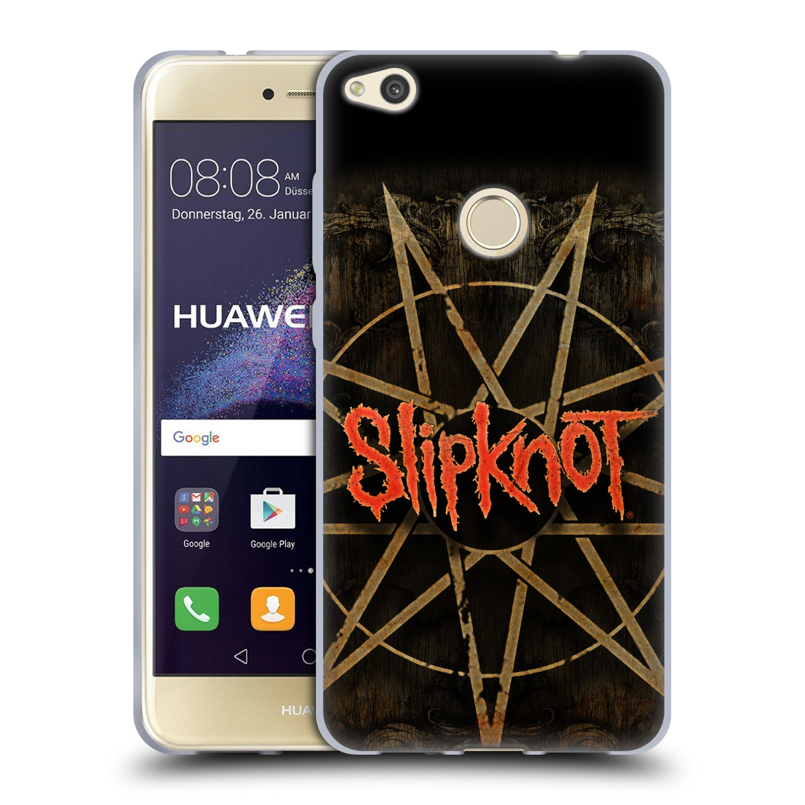 Silikonové pouzdro na mobil Huawei P9 Lite (2017) HEAD CASE Slipknot - Znak