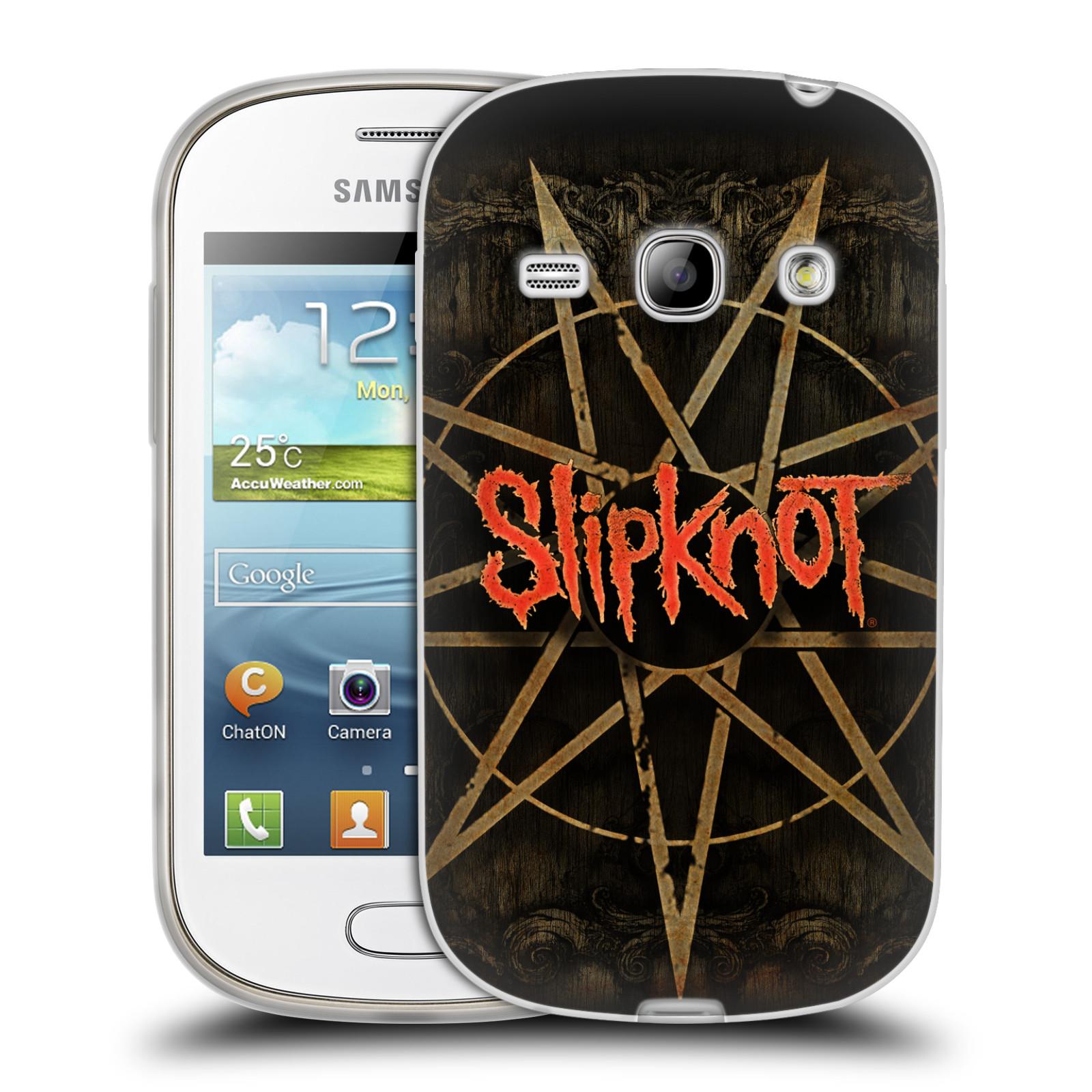 Silikonové pouzdro na mobil Samsung Galaxy Fame HEAD CASE Slipknot - Znak (Silikonový kryt či obal na mobilní telefon licencovaným motivem Slipknot pro Samsung Galaxy Fame GT-S6810)