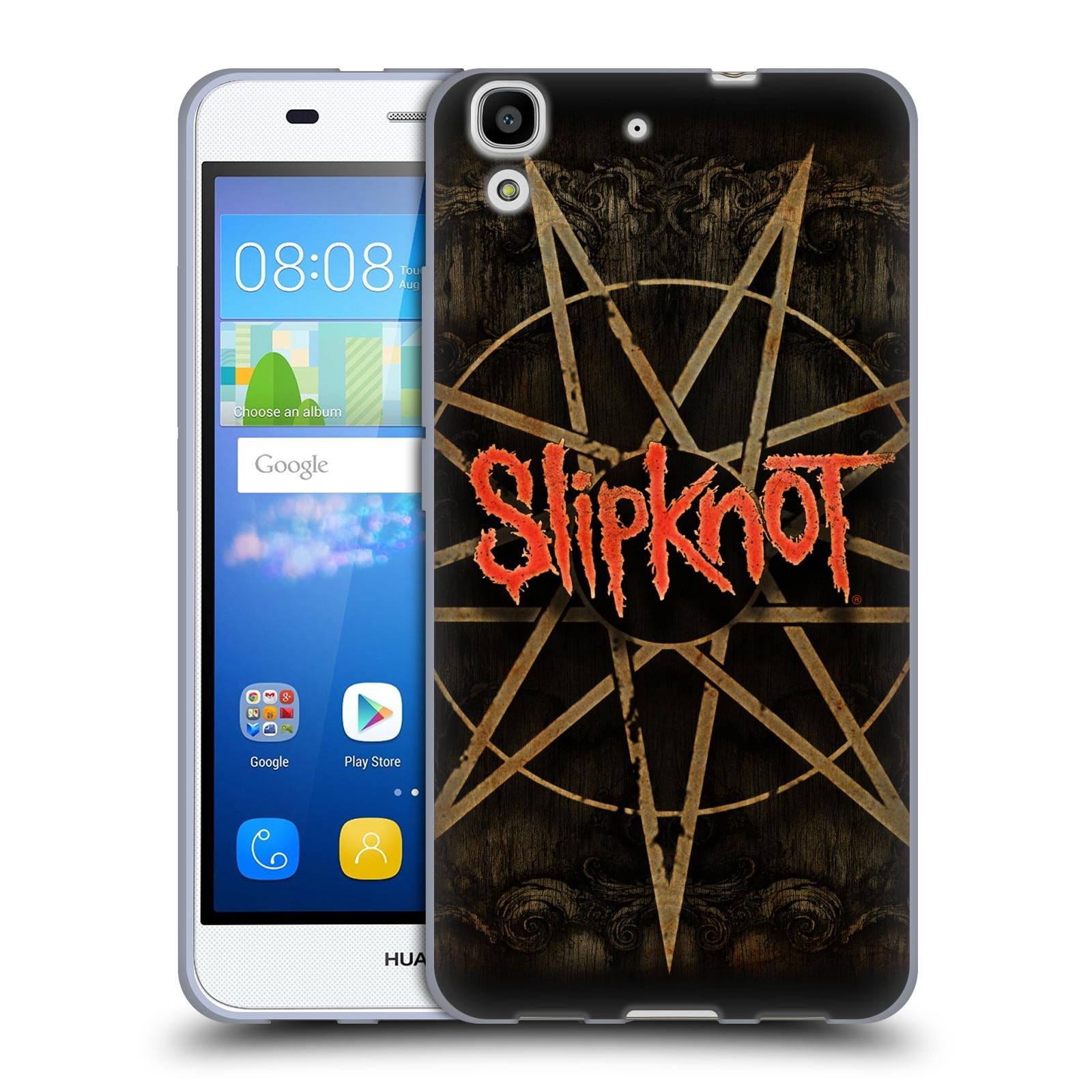 Silikonové pouzdro na mobil Huawei Y6 HEAD CASE Slipknot - Znak