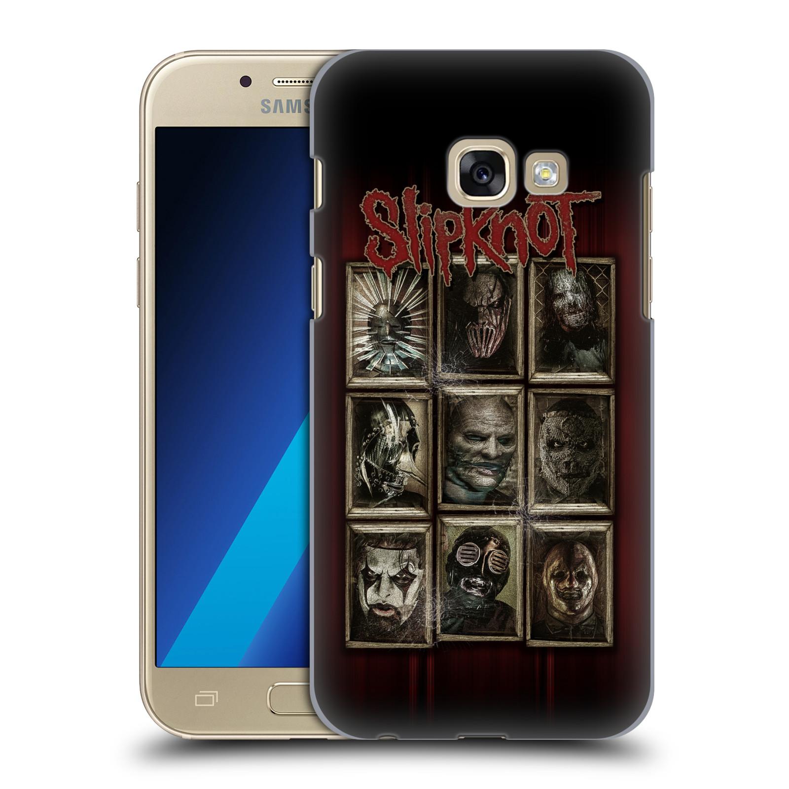 Plastové pouzdro na mobil Samsung Galaxy A3 (2017) HEAD CASE Slipknot - Masky