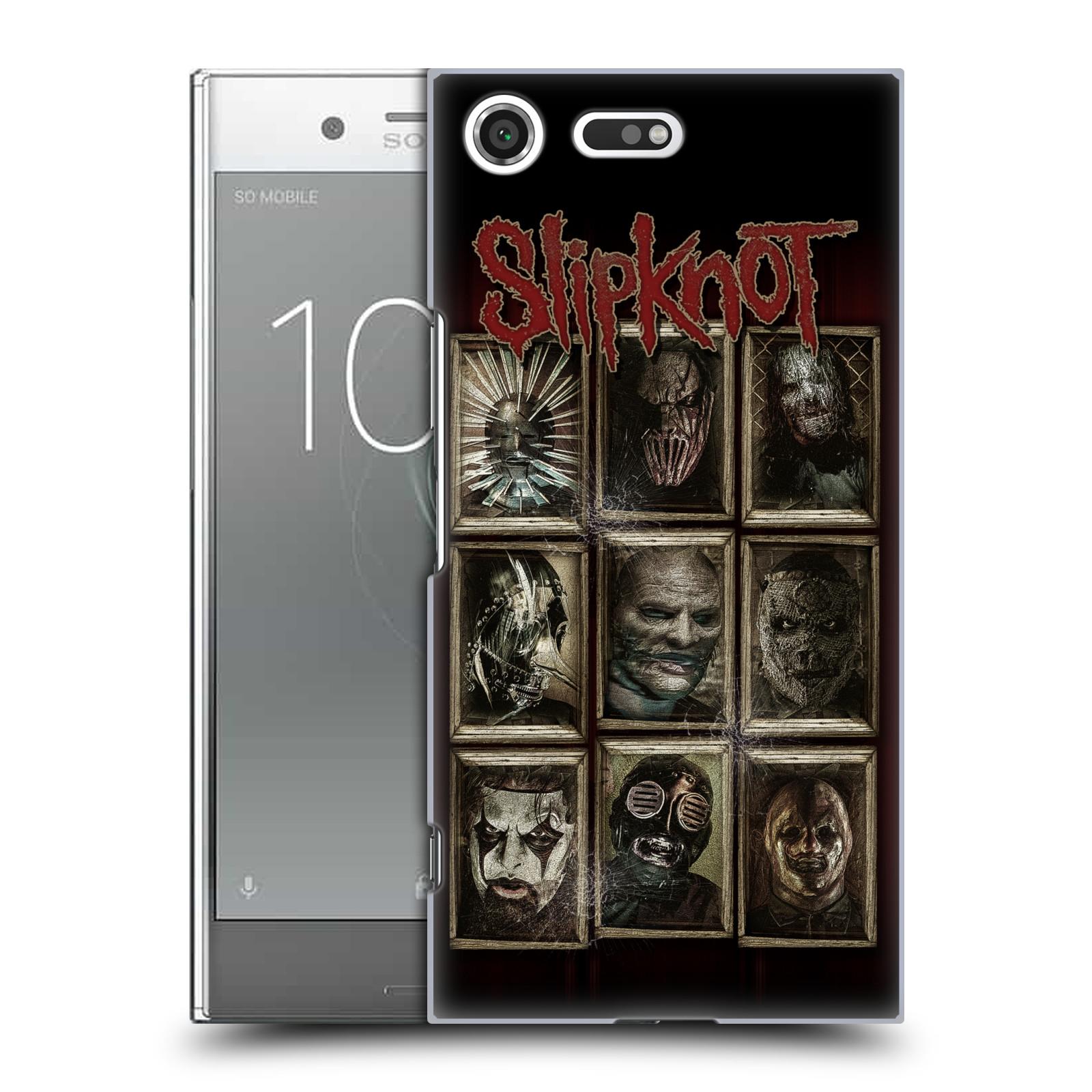 Plastové pouzdro na mobil Sony Xperia XZ Premium Head Case - Slipknot - Masky (Plastový kryt či obal na mobilní telefon licencovaným motivem Slipknot pro Sony Xperia XZ Premium G8142)
