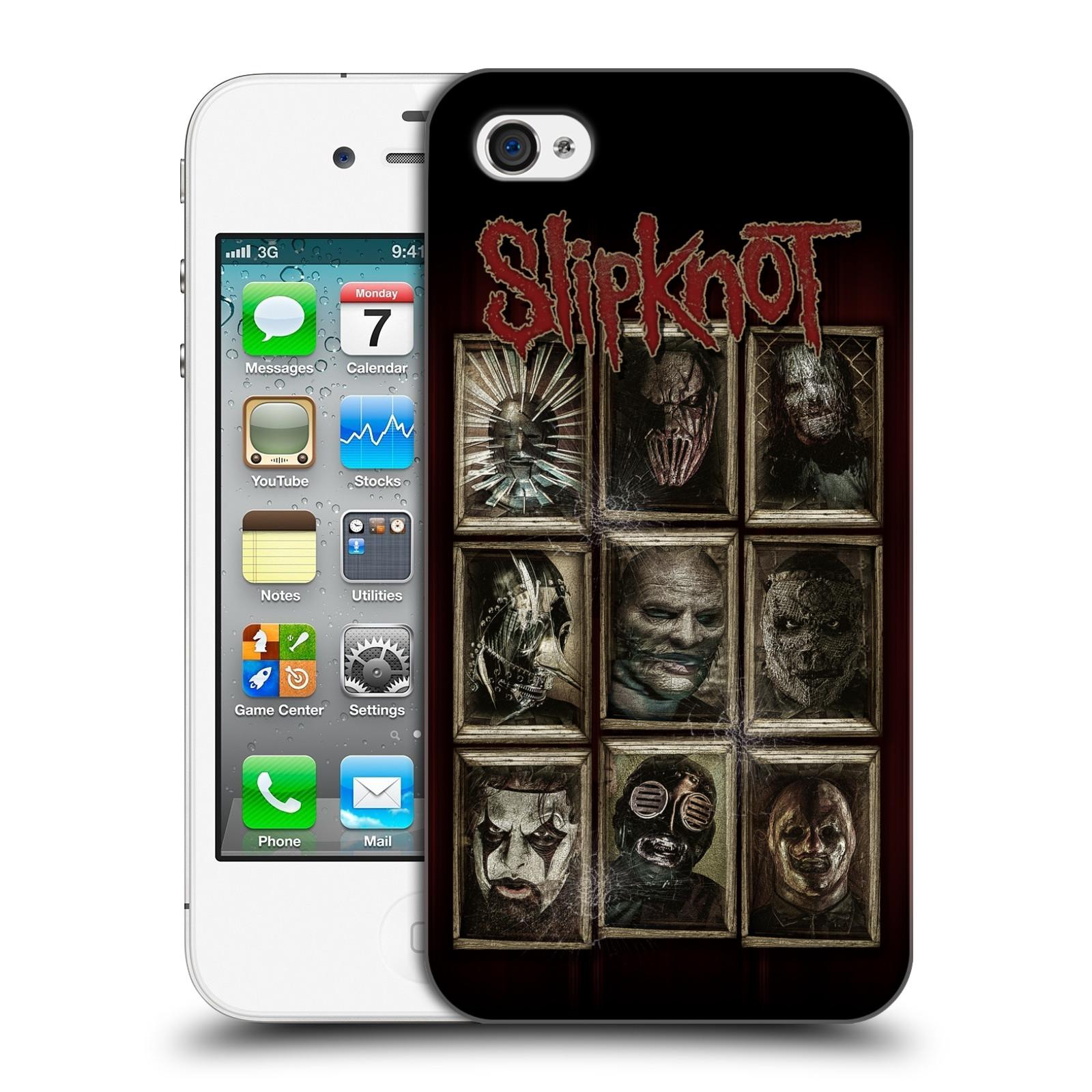 Plastové pouzdro na mobil Apple iPhone 4 a 4S HEAD CASE Slipknot - Masky
