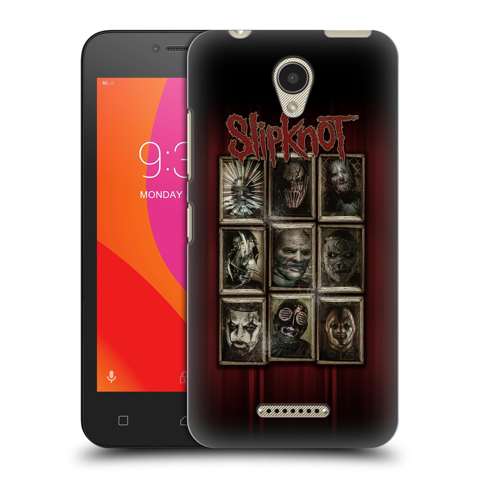Plastové pouzdro na mobil Lenovo B - Head Case - Slipknot - Masky (Plastový kryt či obal na mobilní telefon Lenovo B s motivem Slipknot - Masky)