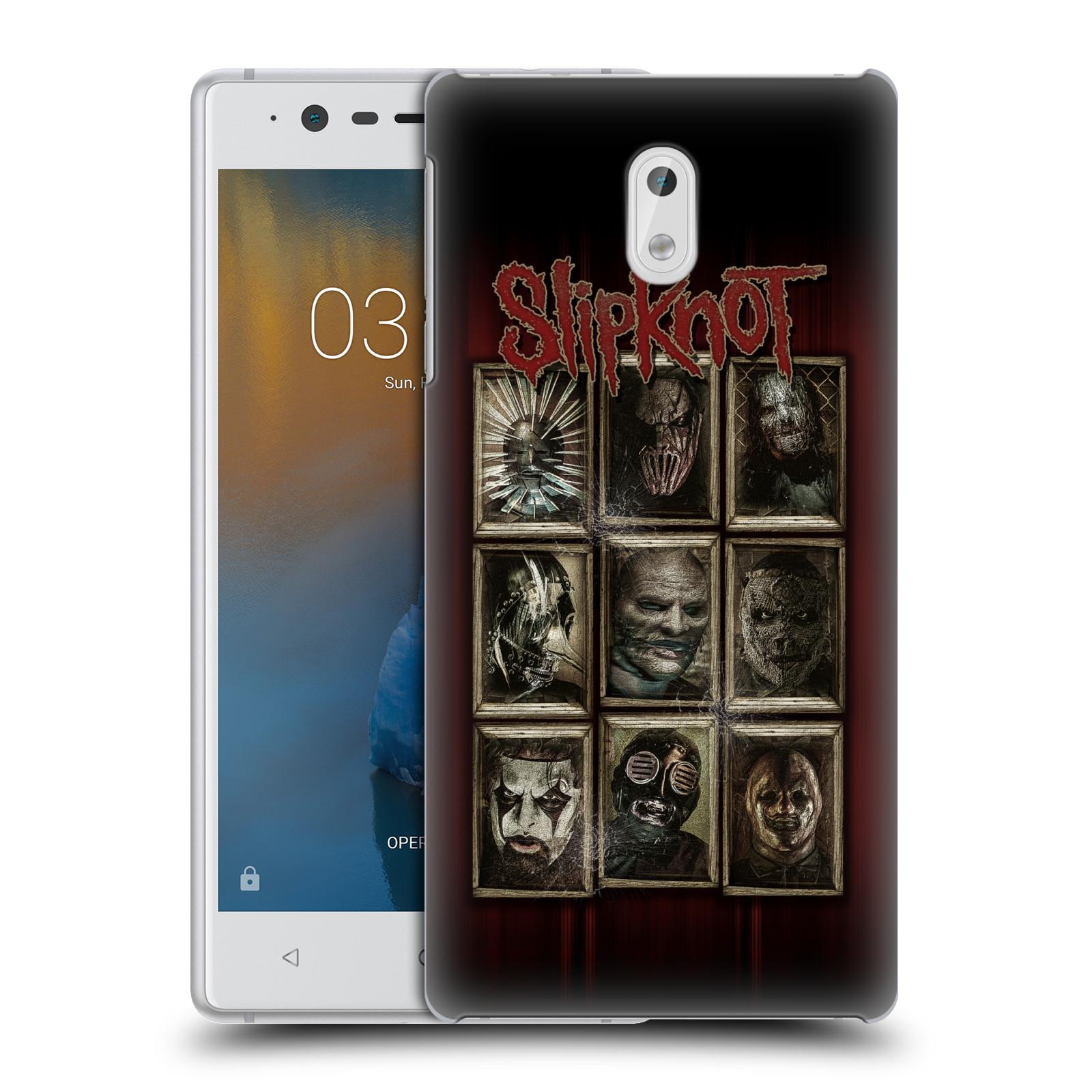 Plastové pouzdro na mobil Nokia 3 Head Case - Slipknot - Masky (Plastový kryt či obal na mobilní telefon licencovaným motivem Slipknot pro Nokia 3 (2017))